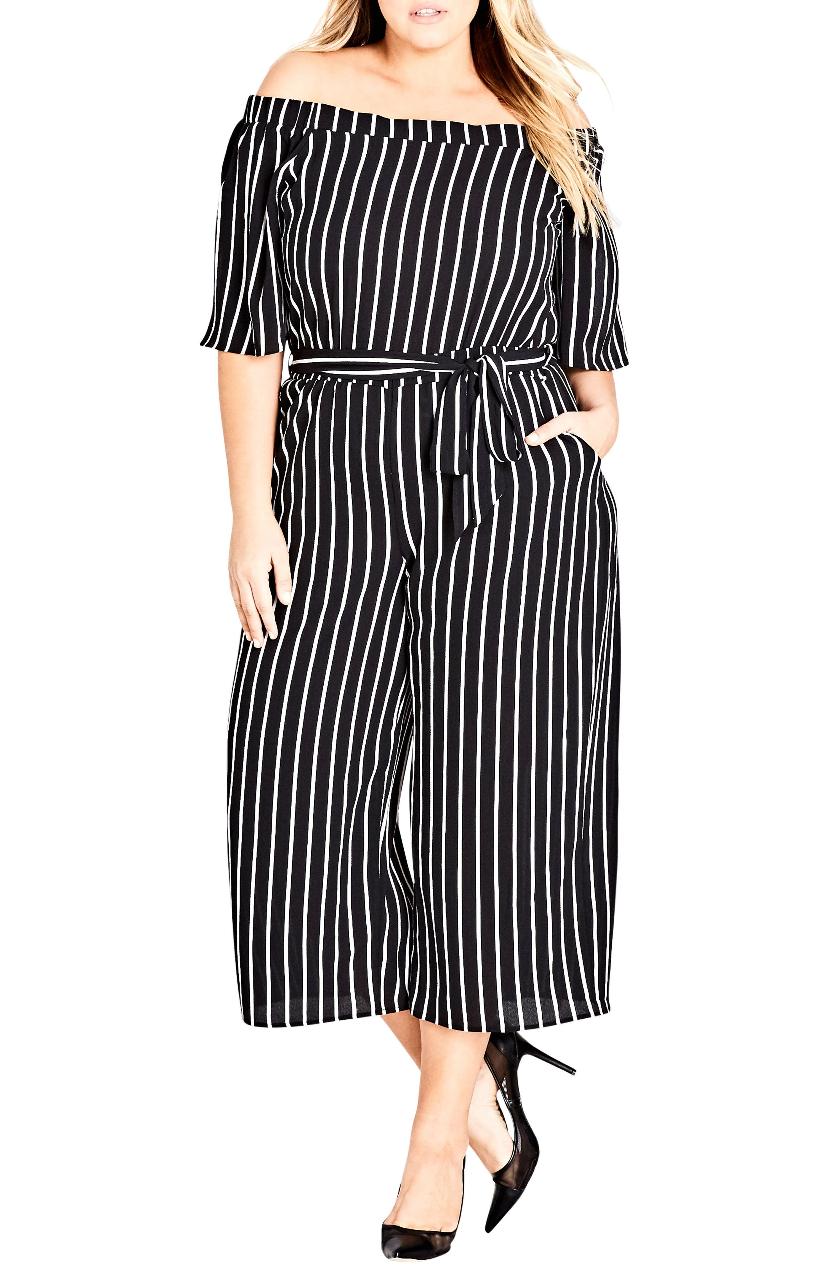 Stripe Play Jumpsuit,                         Main,                         color, White Stripe