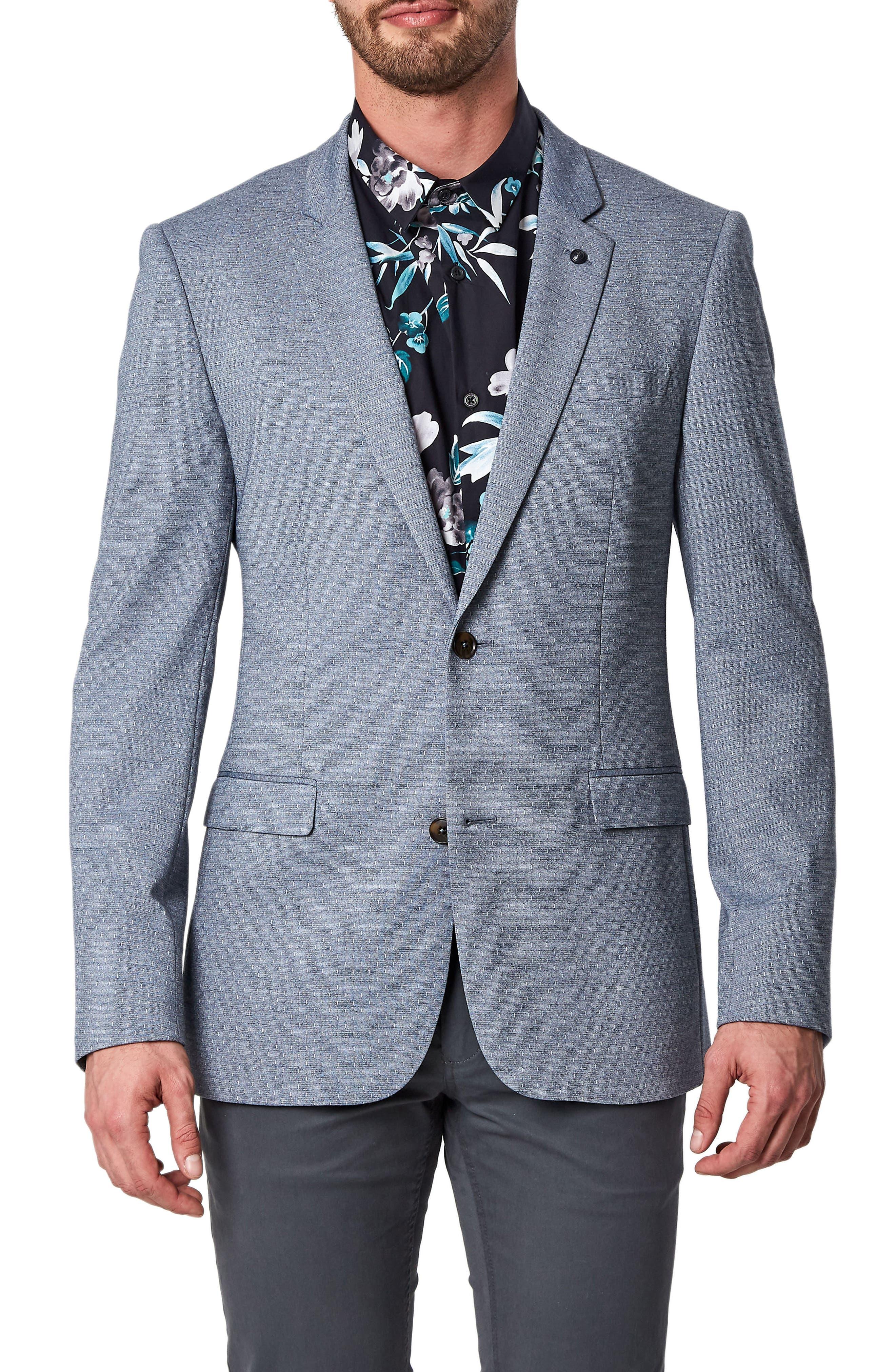 Felico Trim Fit Sport Coat,                         Main,                         color, Navy