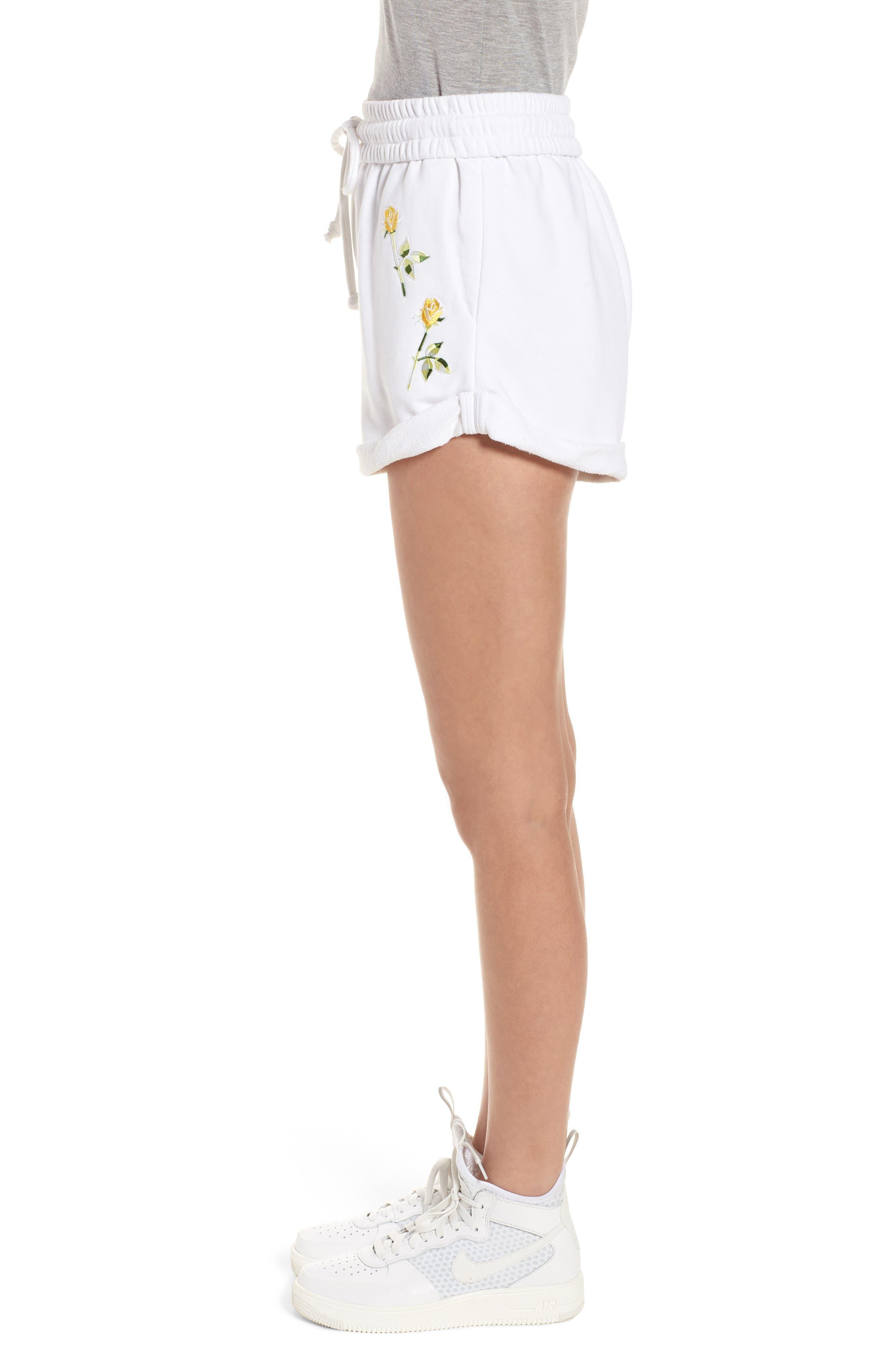 Rolled Drawstring Shorts,                             Alternate thumbnail 3, color,                             Bright White