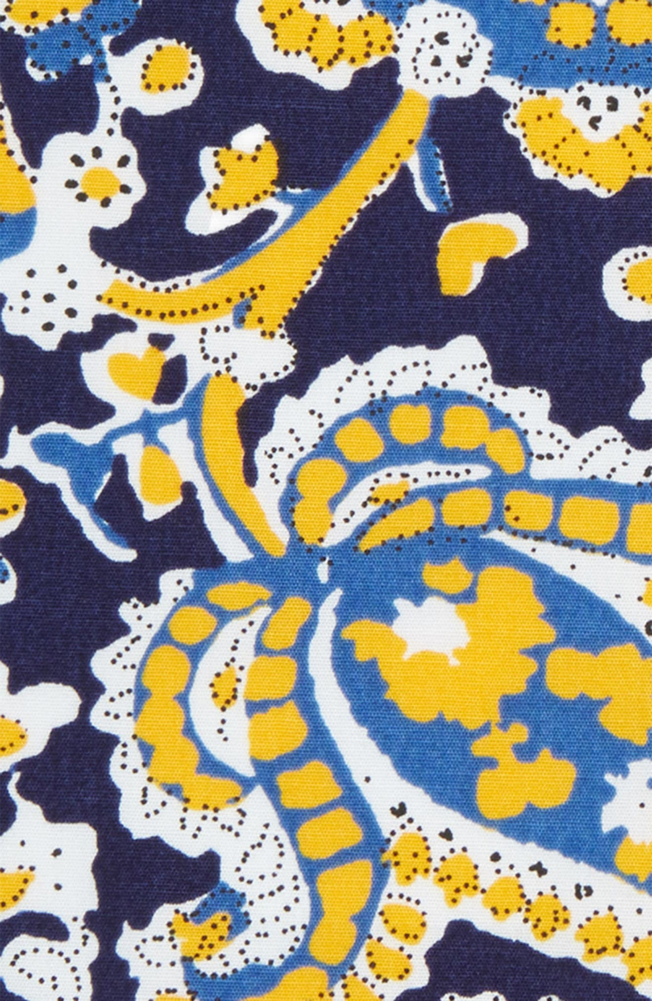 Paisley Scott Cotton Pocket Square,                             Alternate thumbnail 3, color,                             Navy