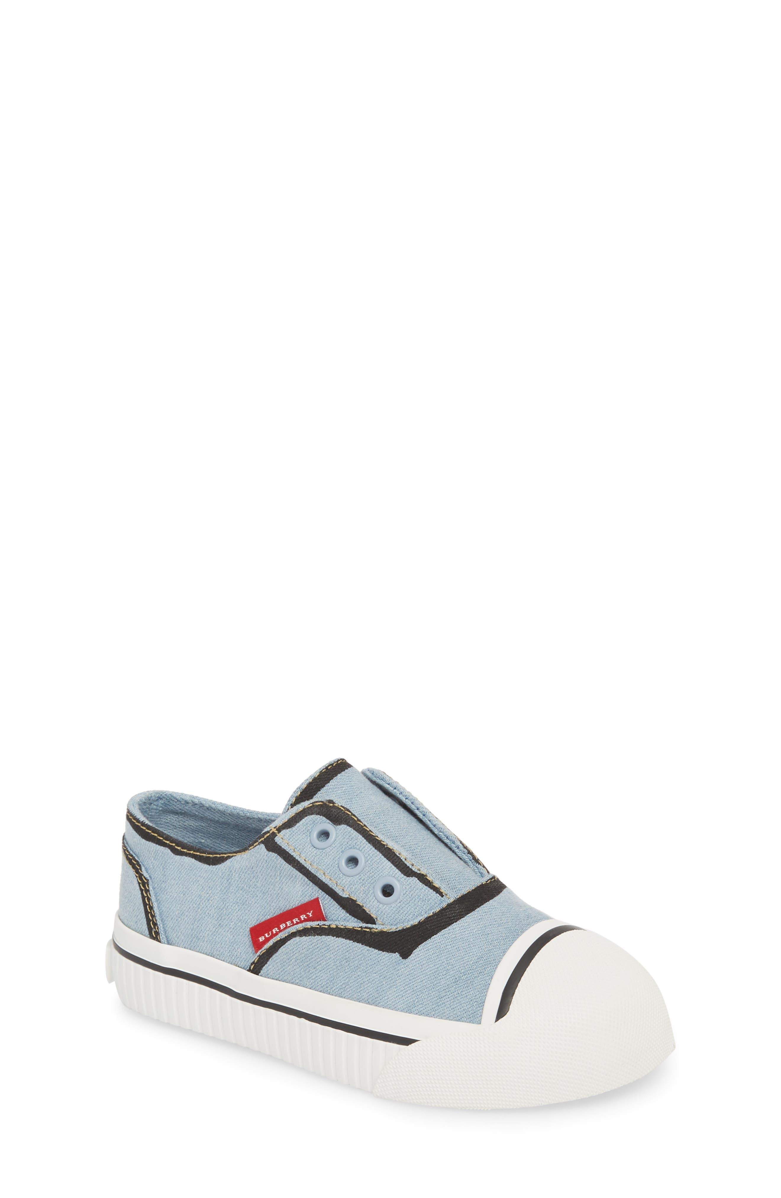 Alternate Image 1 Selected - Burberry Lipton Slip-On Sneaker (Walker & Toddler)