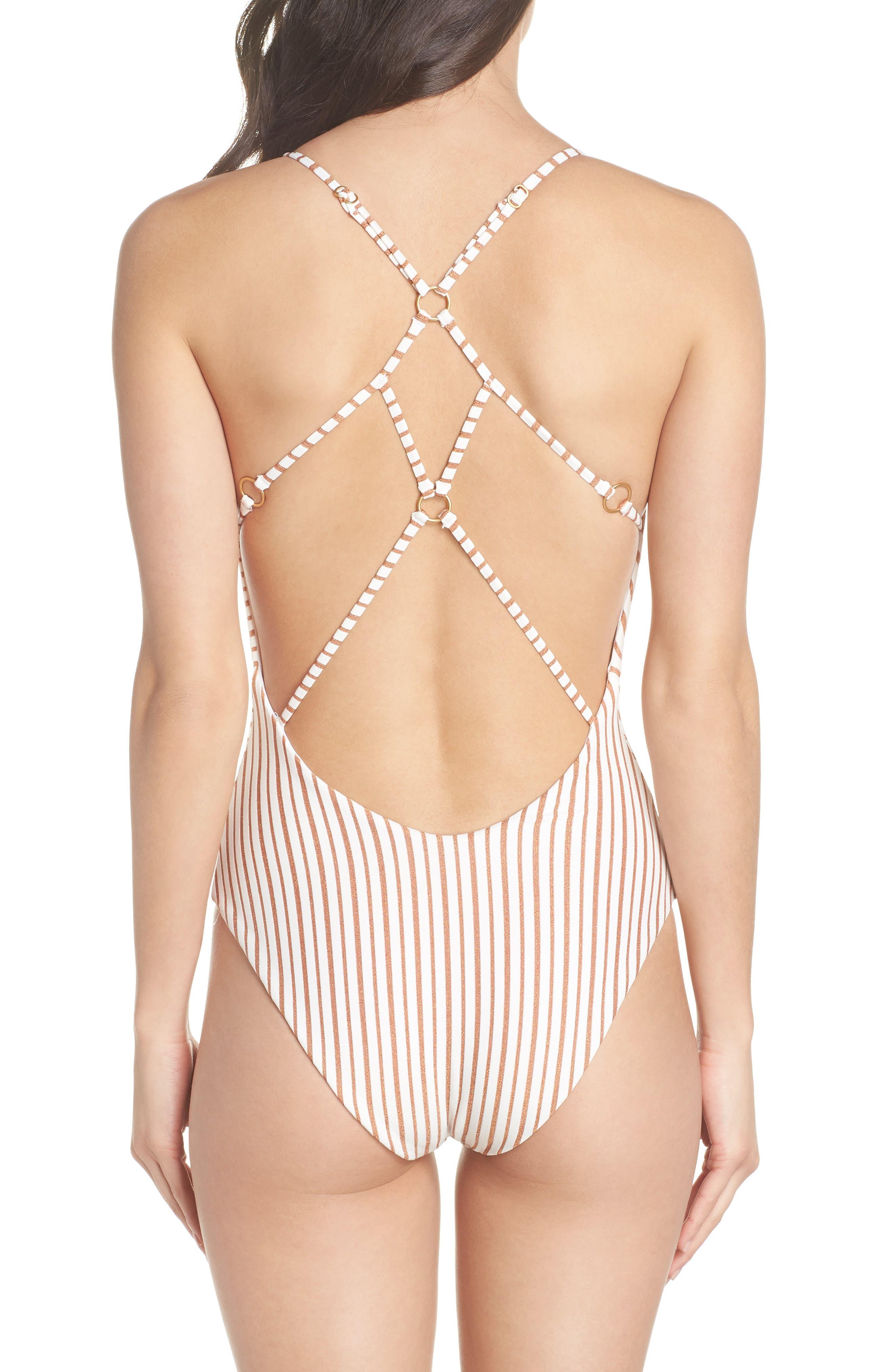 Blair One-Piece Swimsuit,                             Alternate thumbnail 2, color,                             White