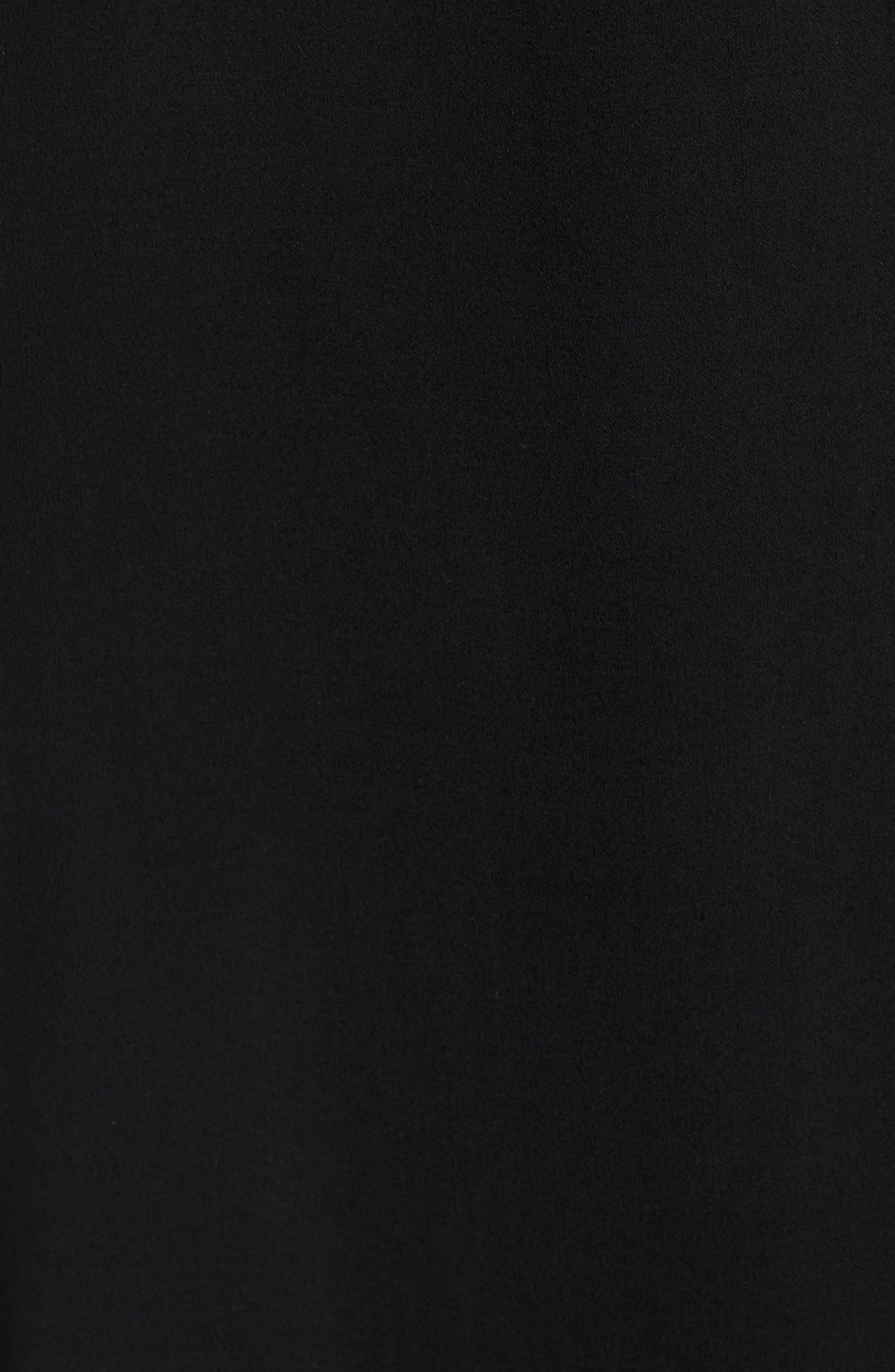 Silk Wrap Dress,                             Alternate thumbnail 6, color,                             Black