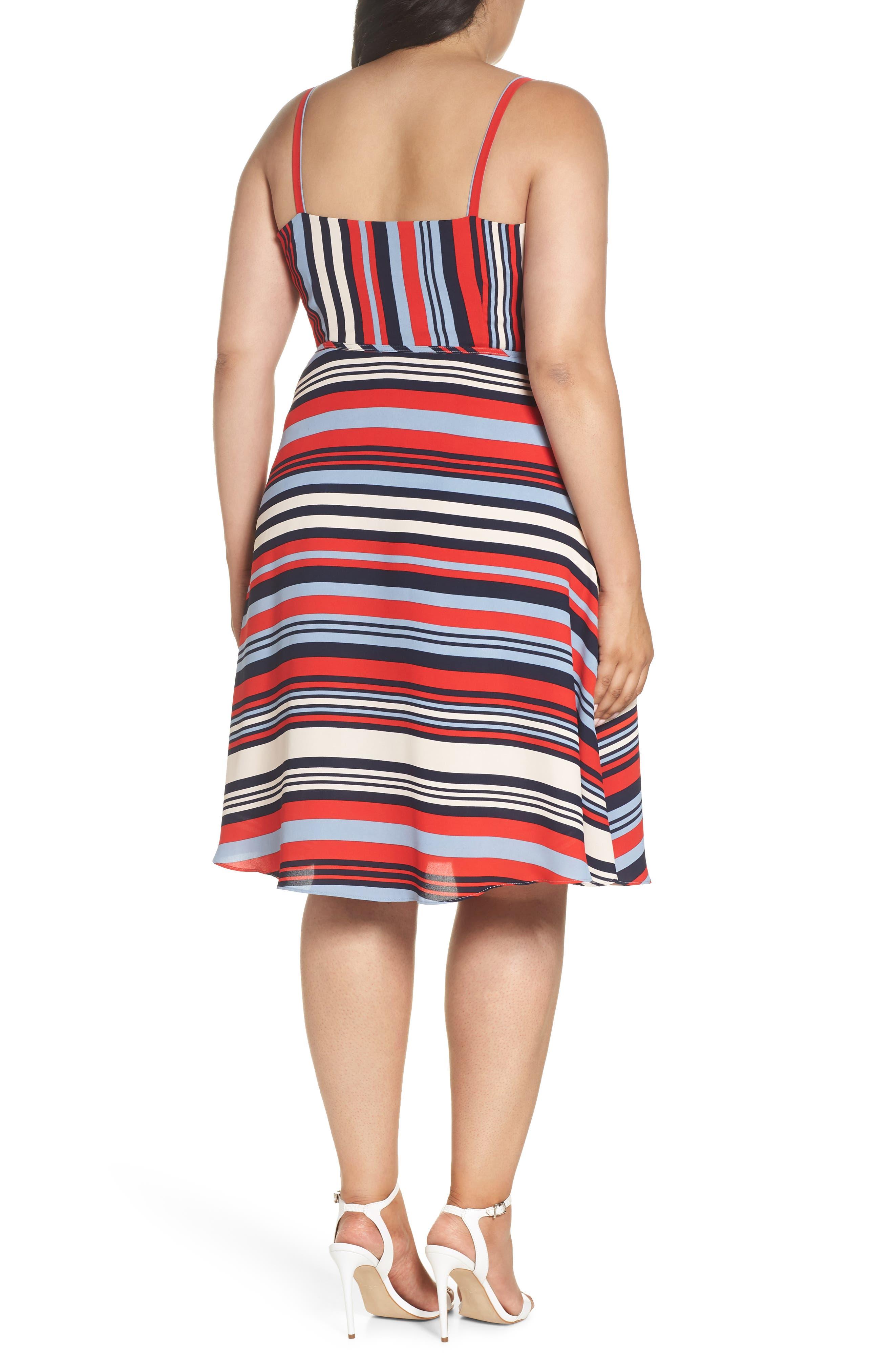 Milan Stripe Wrap Dress,                             Alternate thumbnail 2, color,                             Stripe