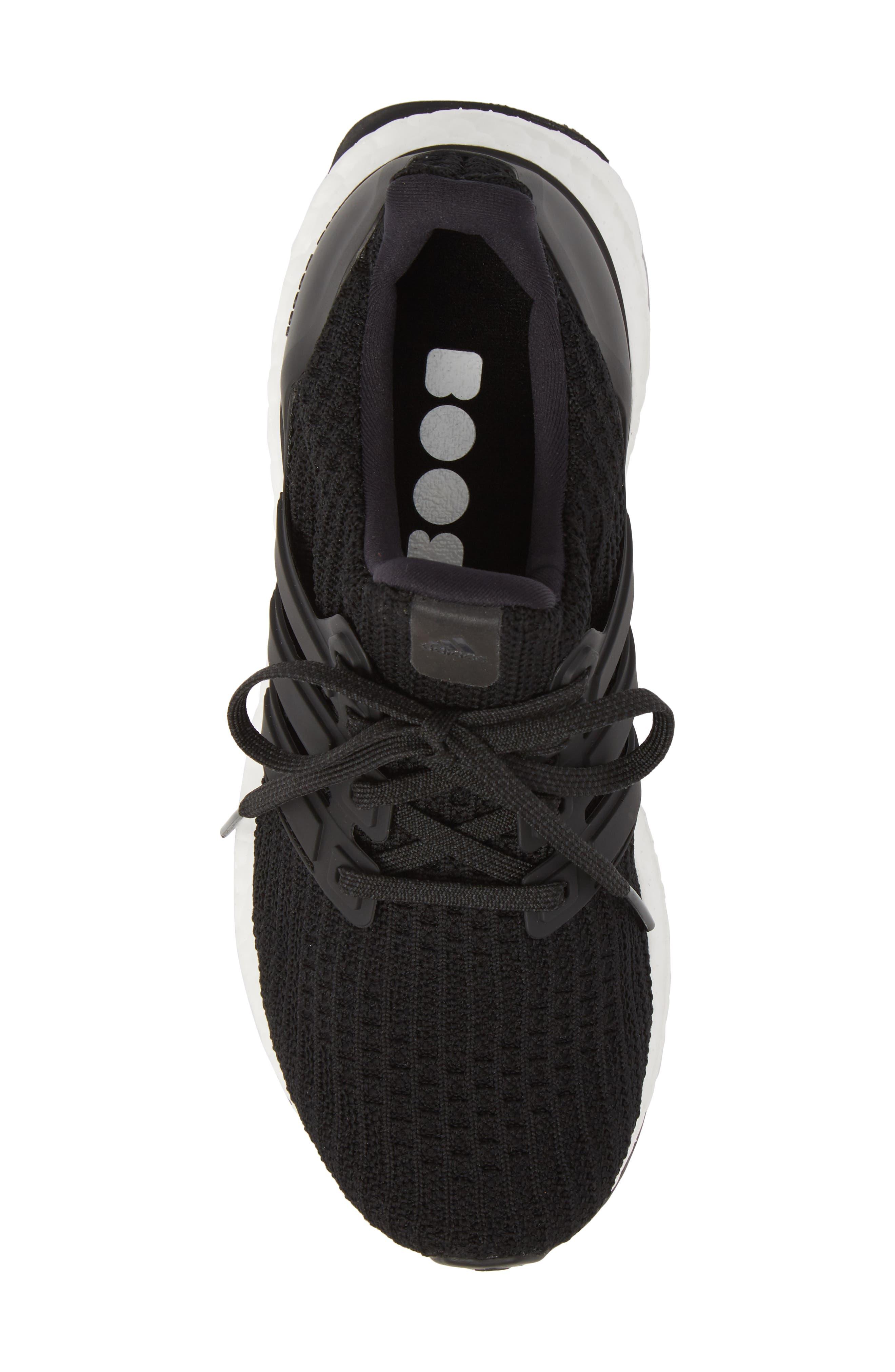 'UltraBoost' Running Shoe,                             Alternate thumbnail 5, color,                             Core Black/ Core Black