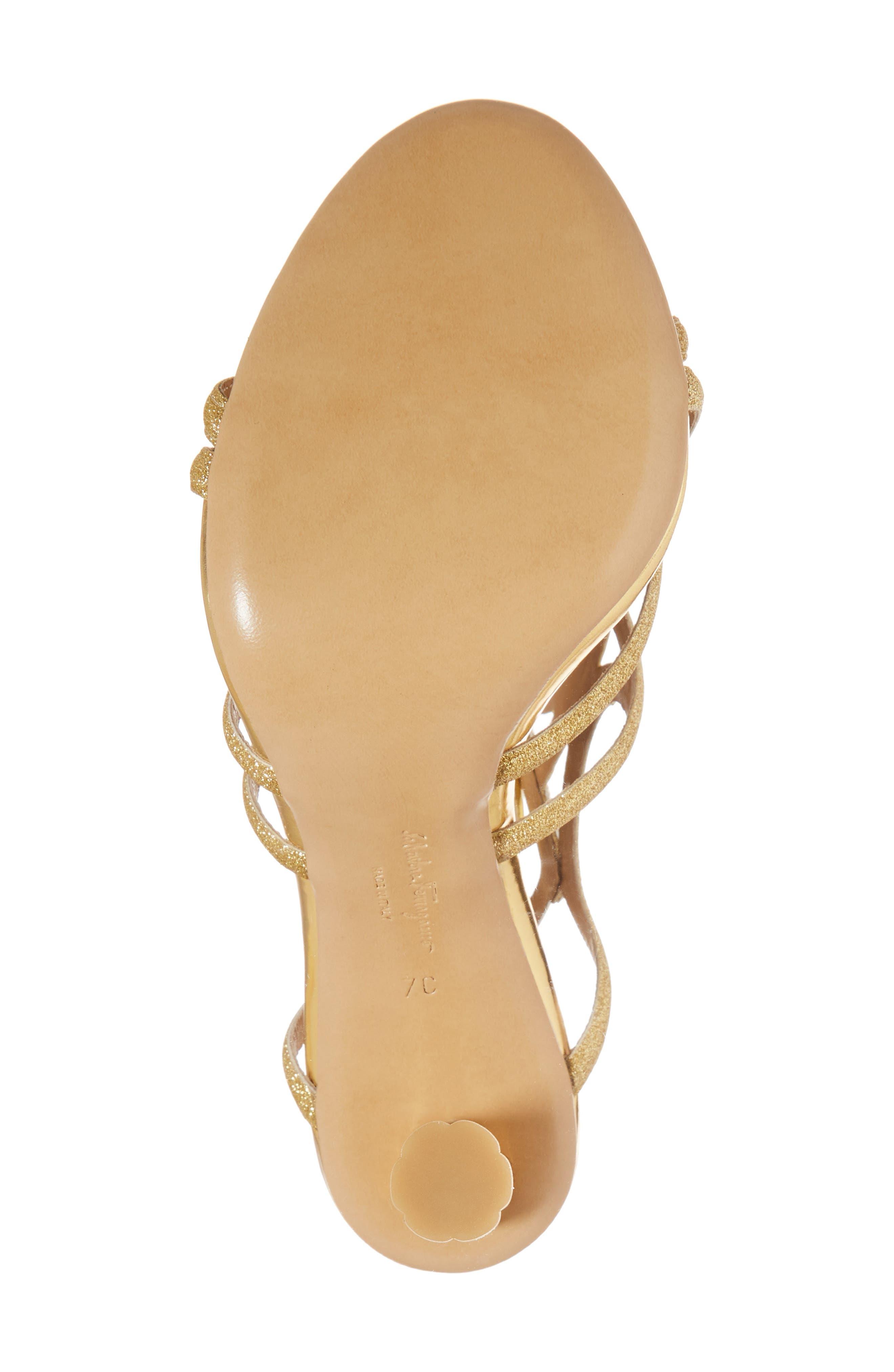 Vinci Lace-Up Sandal,                             Alternate thumbnail 6, color,                             Gold