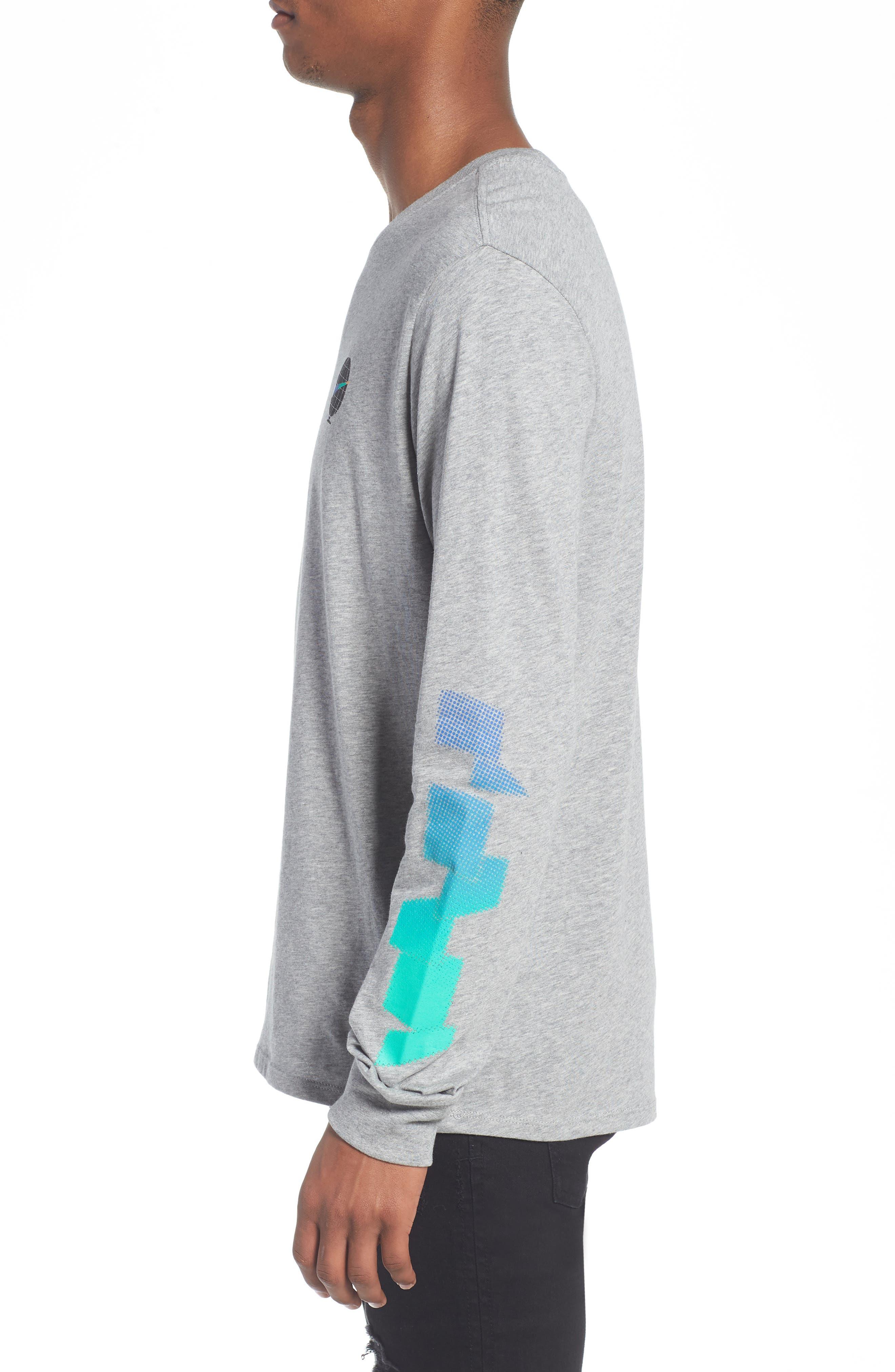 SB Globe Graphic Long Sleeve T-Shirt,                             Alternate thumbnail 6, color,                             Dark Grey Heather