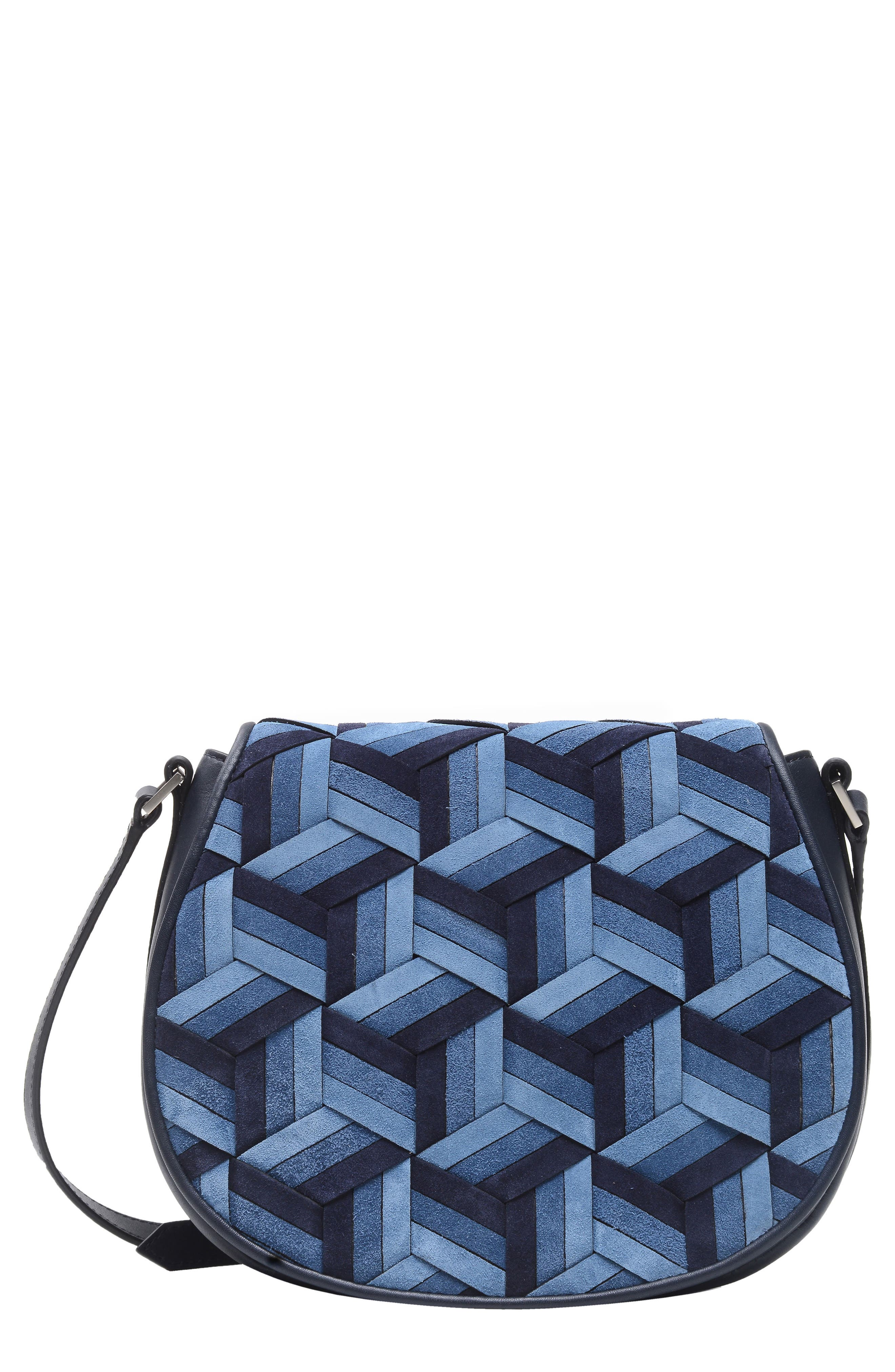 WELDEN ESCAPADE SUEDE SADDLE BAG - BLUE