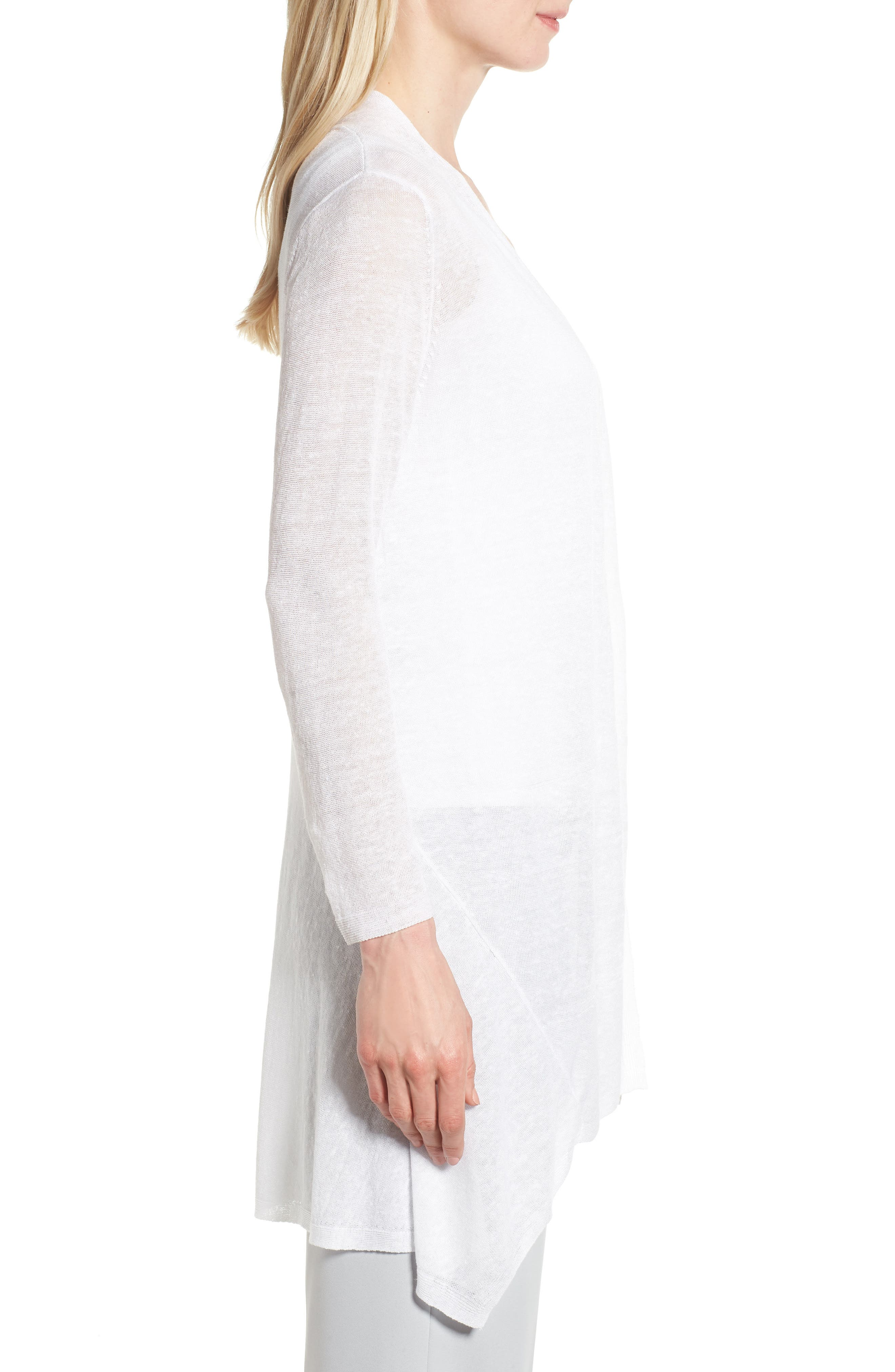 Here or There Long Cardigan,                             Alternate thumbnail 3, color,                             Paper White