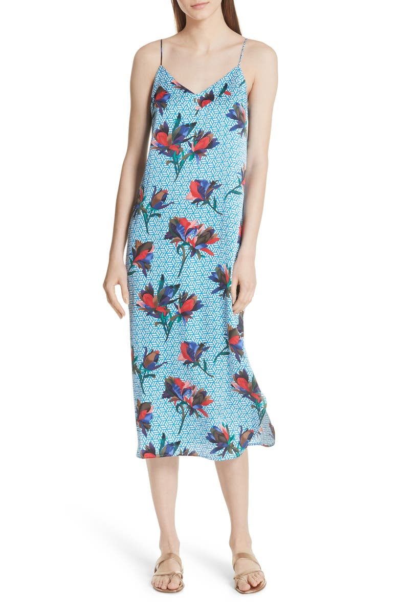 Dian Print Silk Slipdress