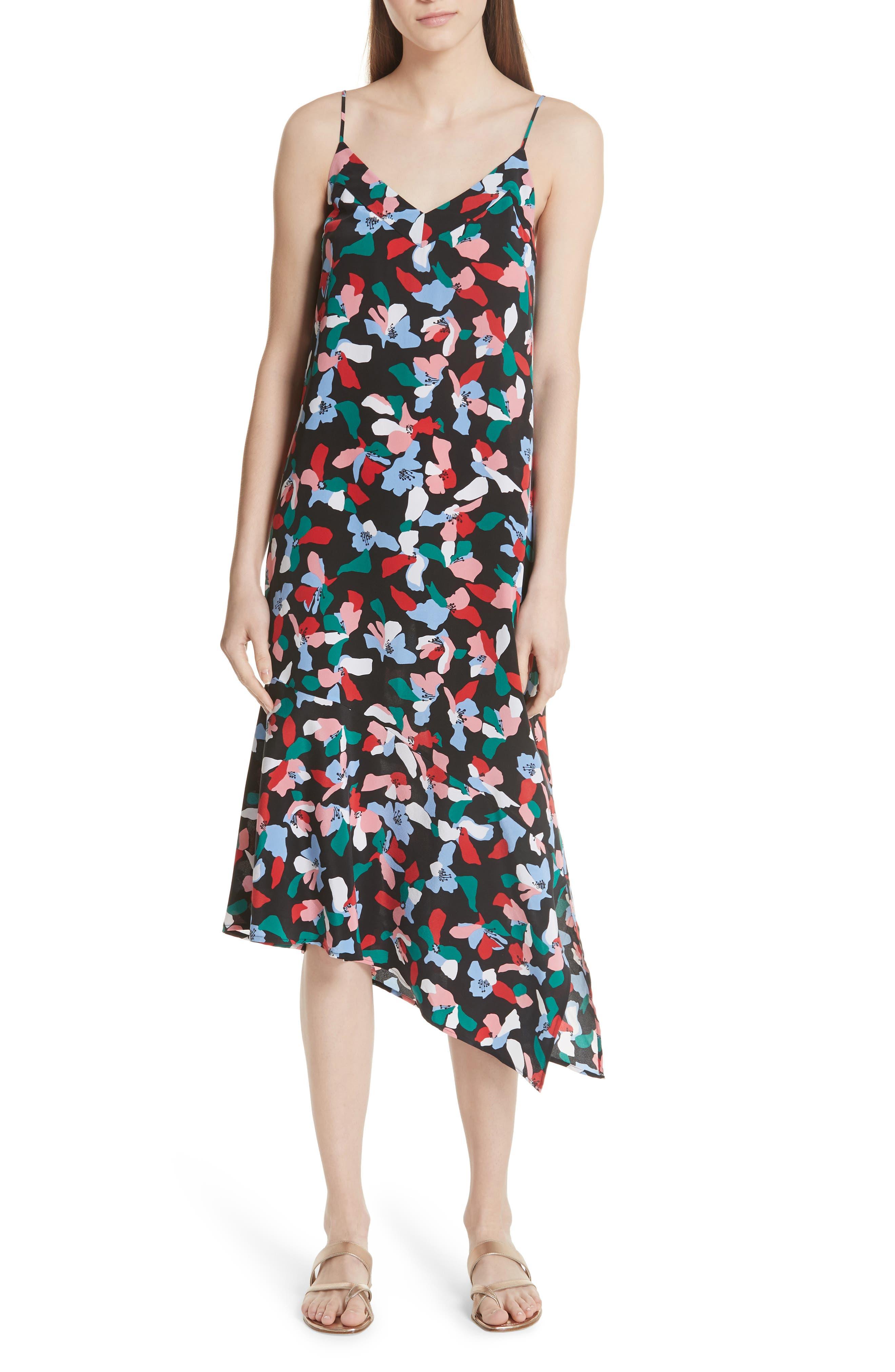 Equipment Jada Asymmetrical Hem Silk Dress