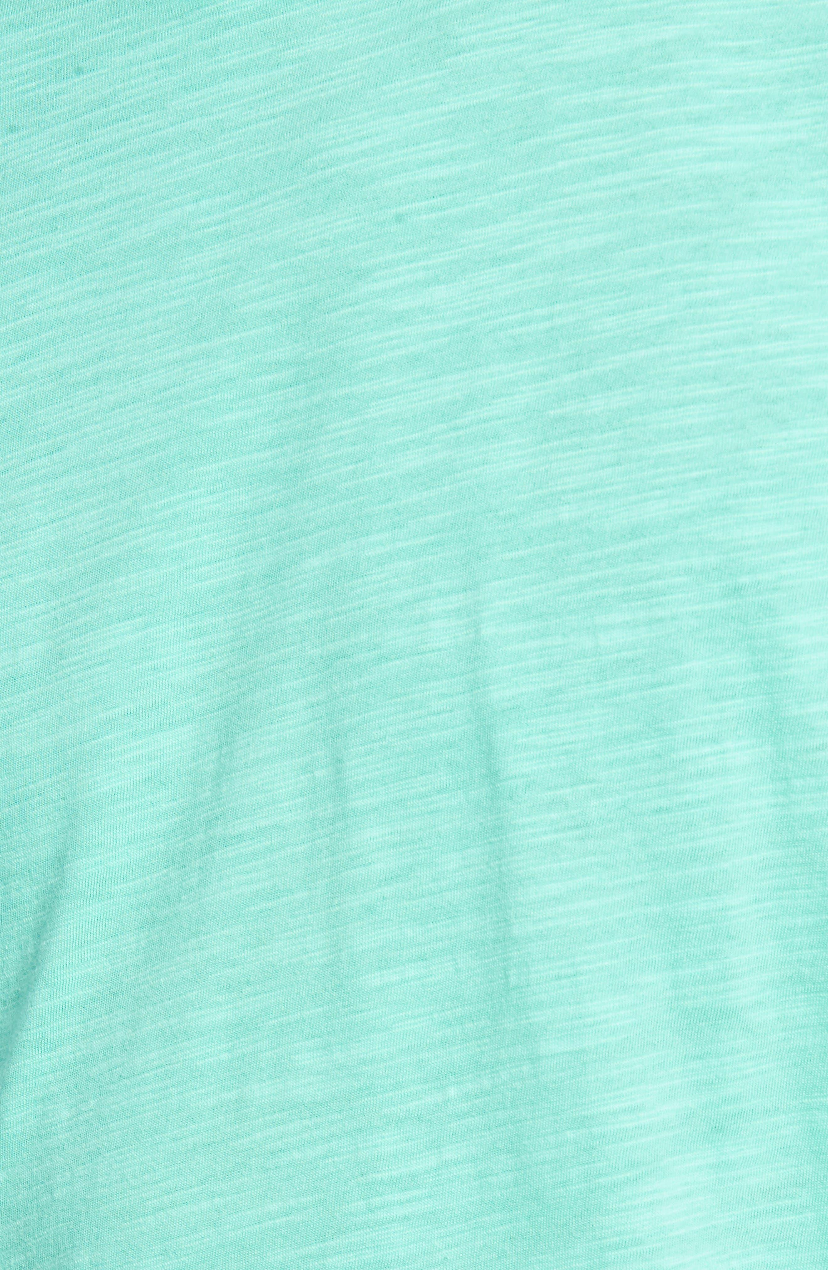 Slub Knit T-Shirt,                             Alternate thumbnail 5, color,                             Green Largo