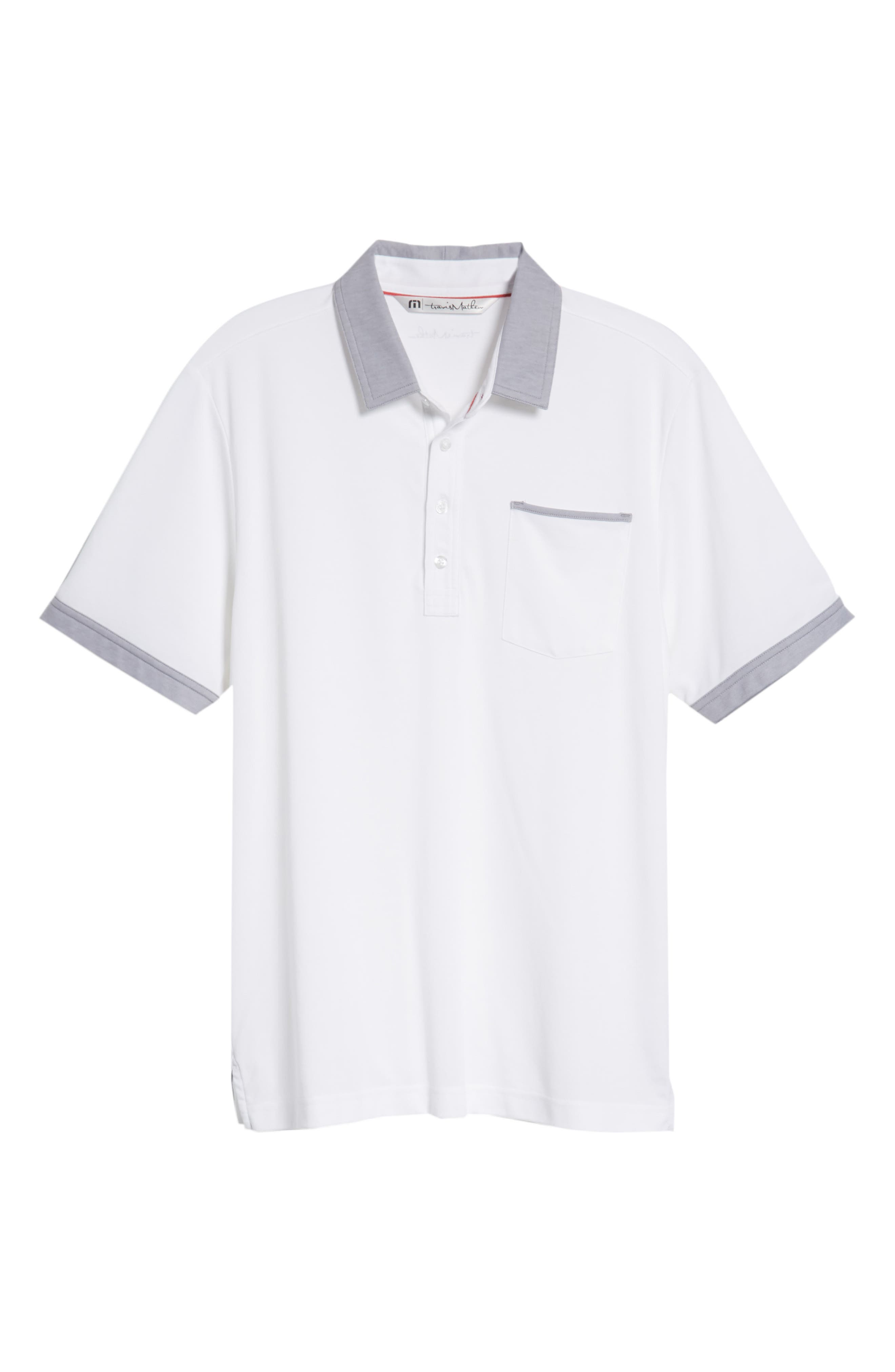 K-Lew Piqué Polo,                             Alternate thumbnail 6, color,                             White