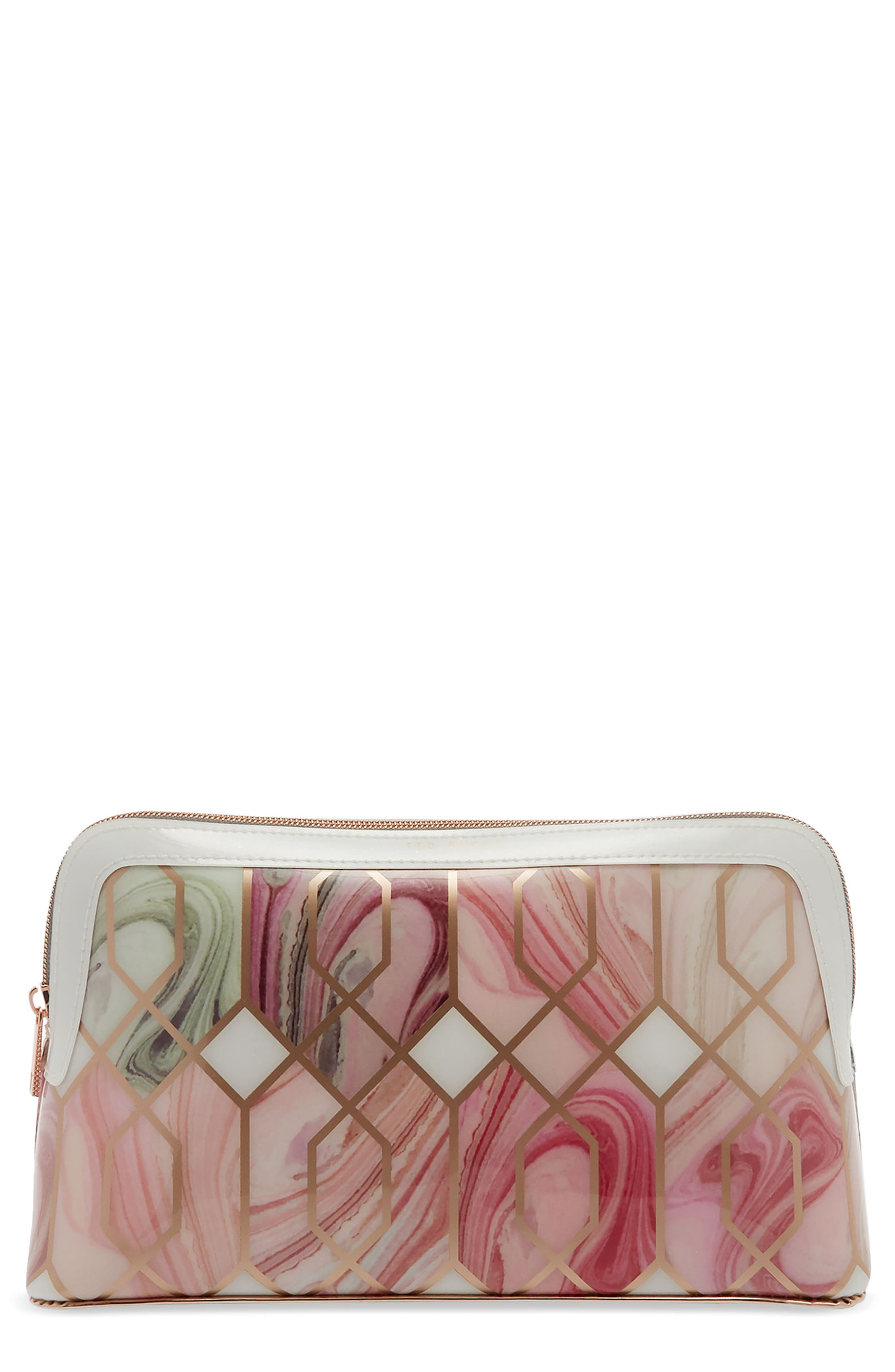Elliee – Sea of Clouds Wash Bag,                             Main thumbnail 1, color,                             White