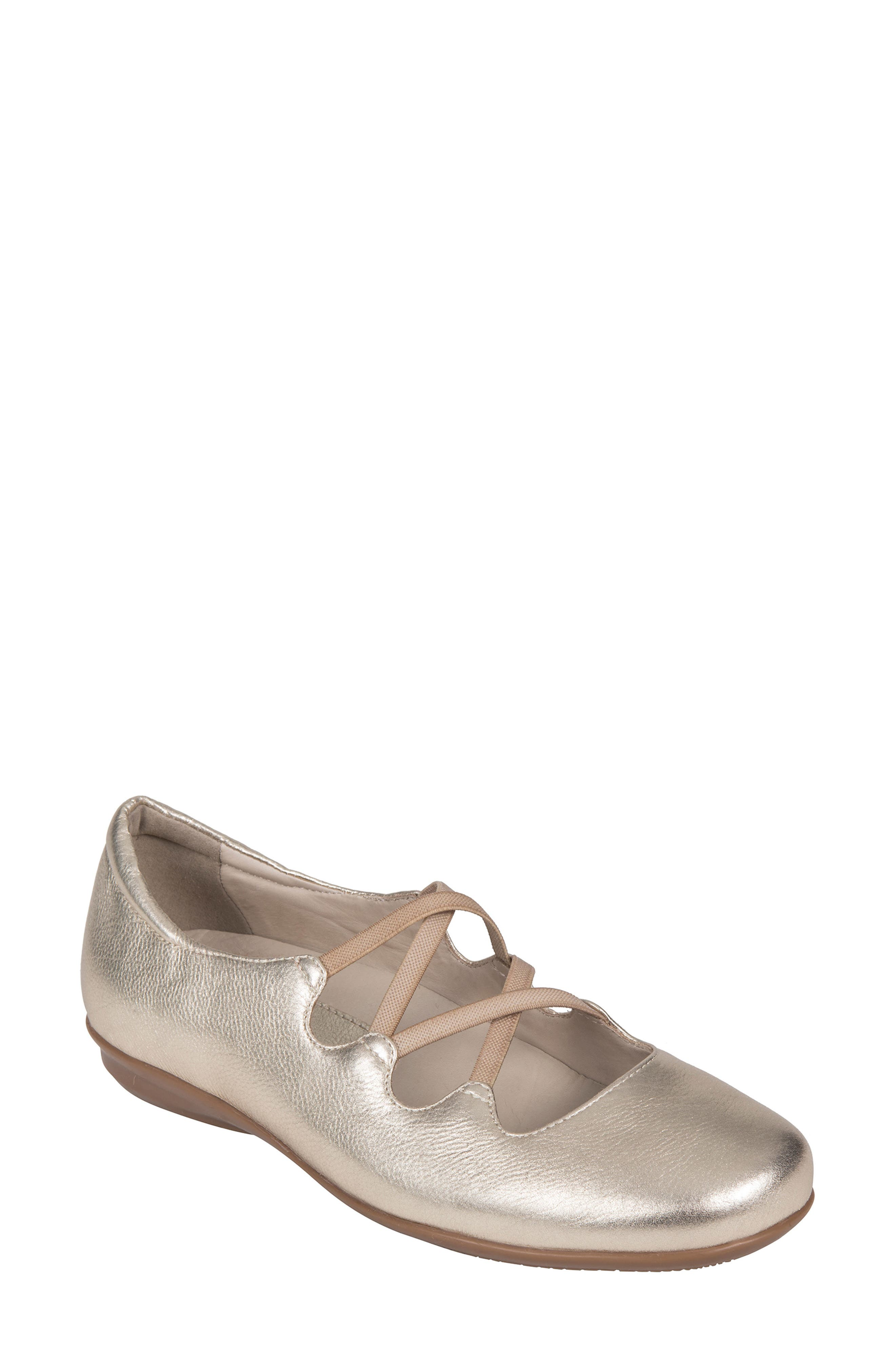 Clare Flat,                         Main,                         color, Gold Leather