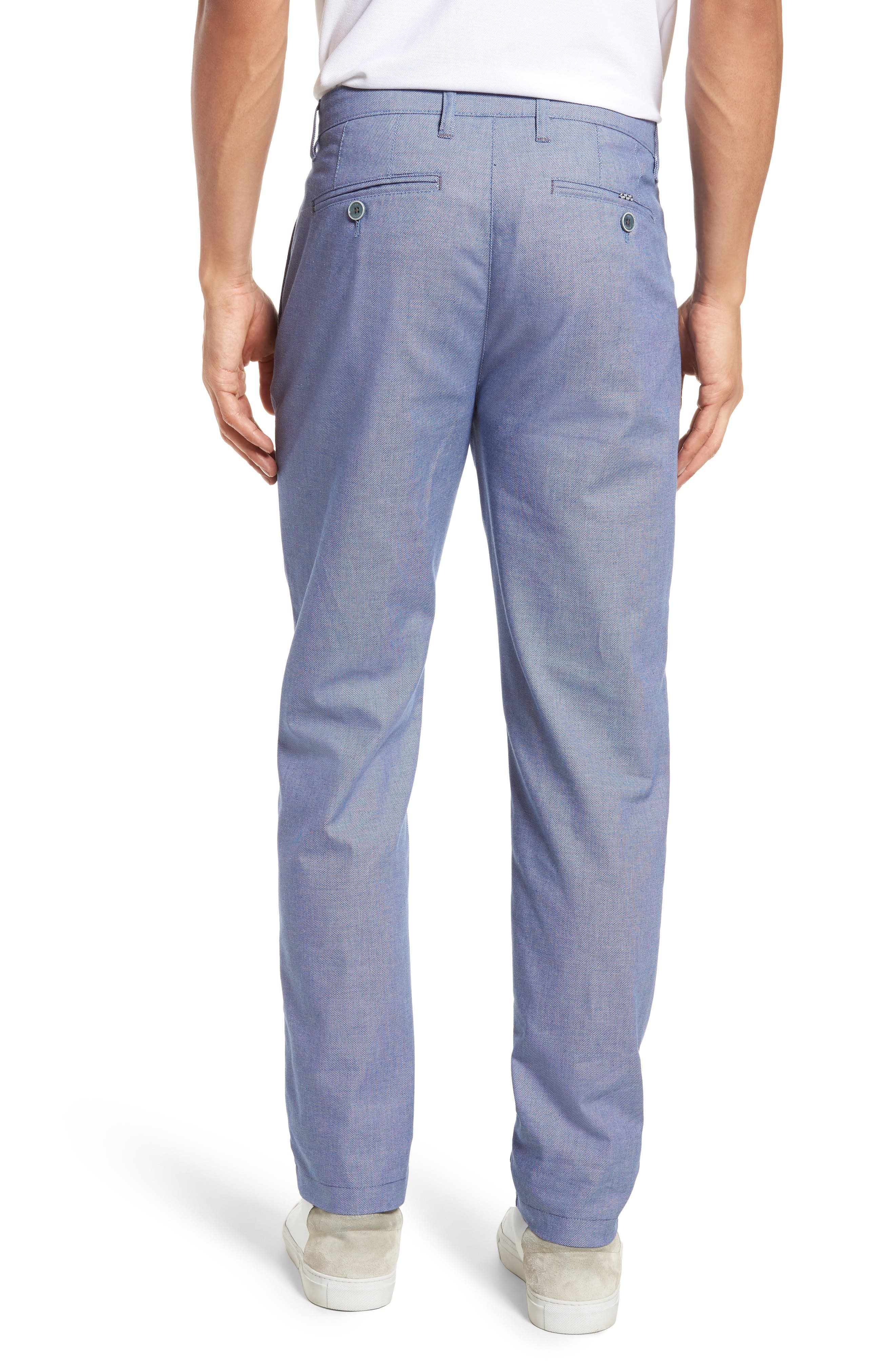 Holldet Flat Front Stretch Solid Cotton Pants,                             Alternate thumbnail 2, color,                             Light Blue