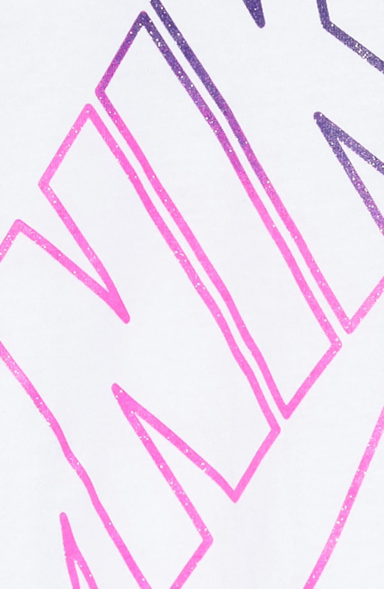 Alternate Image 2  - Nike Futura T-Shirt Dress (Toddler Girls & Little Girls)