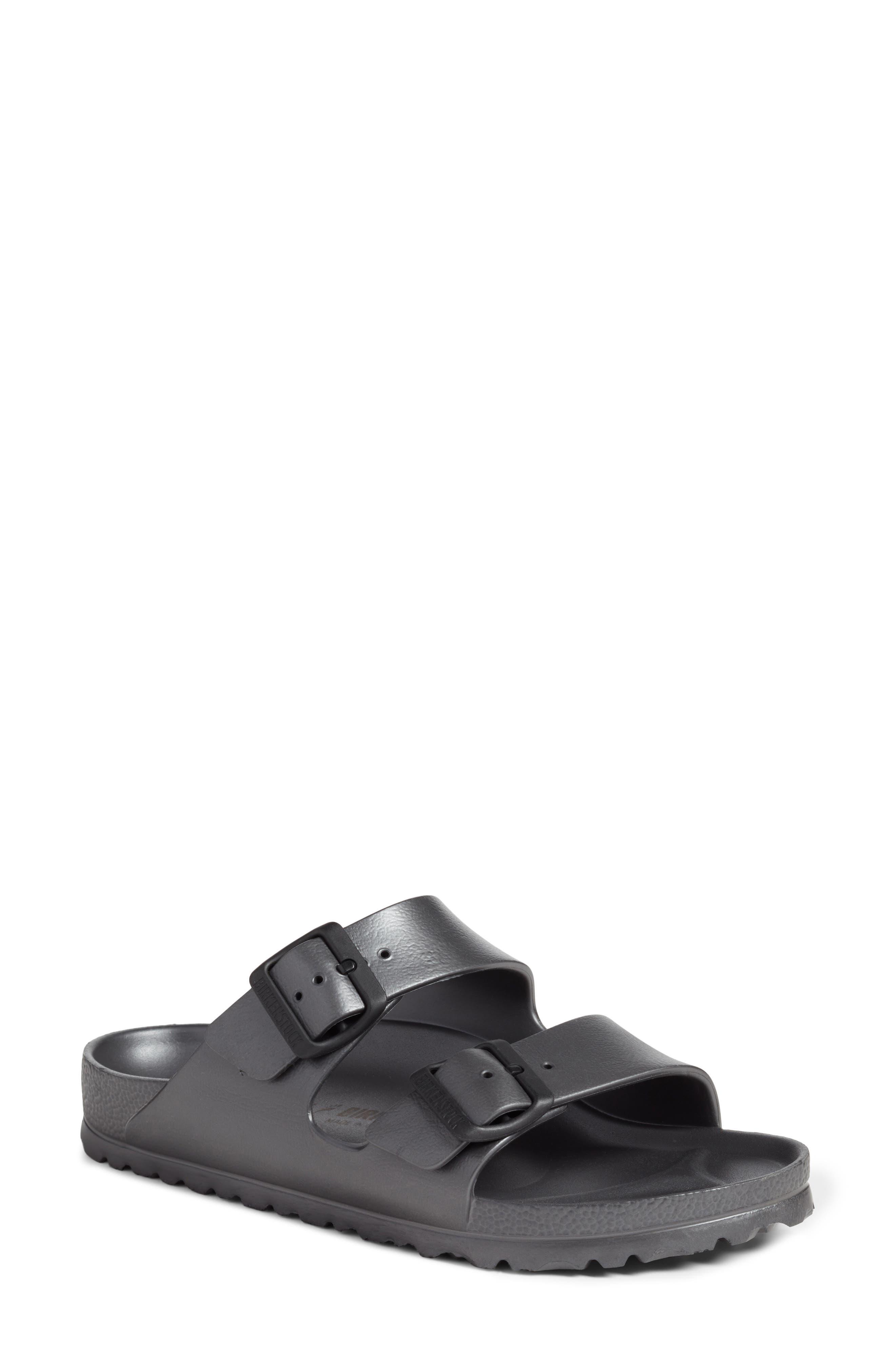 Essentials - Arizona Slide Sandal,                         Main,                         color, Metallic Anthracite