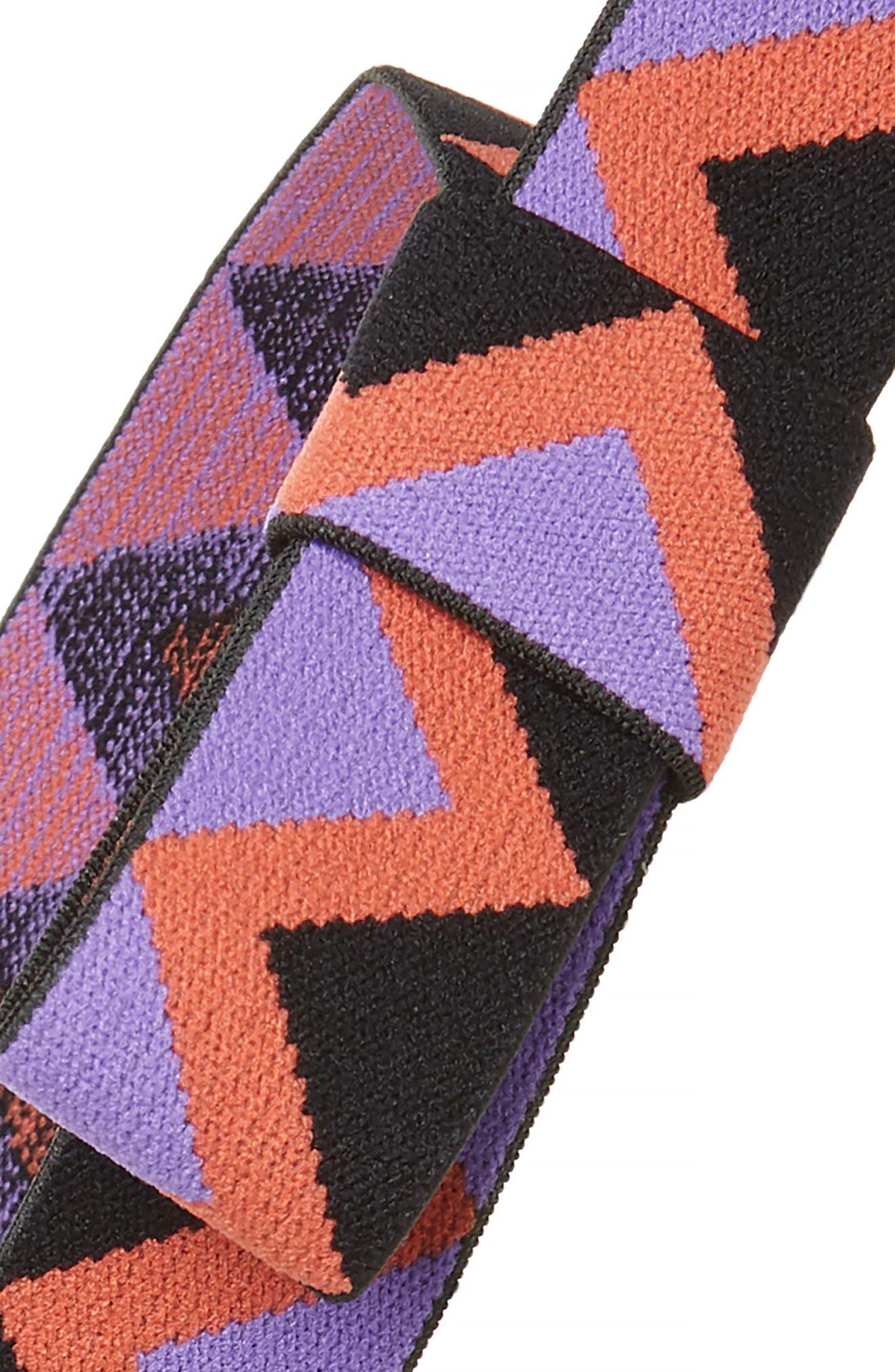 Zigzag Head Wrap,                             Alternate thumbnail 2, color,                             Purple Multi