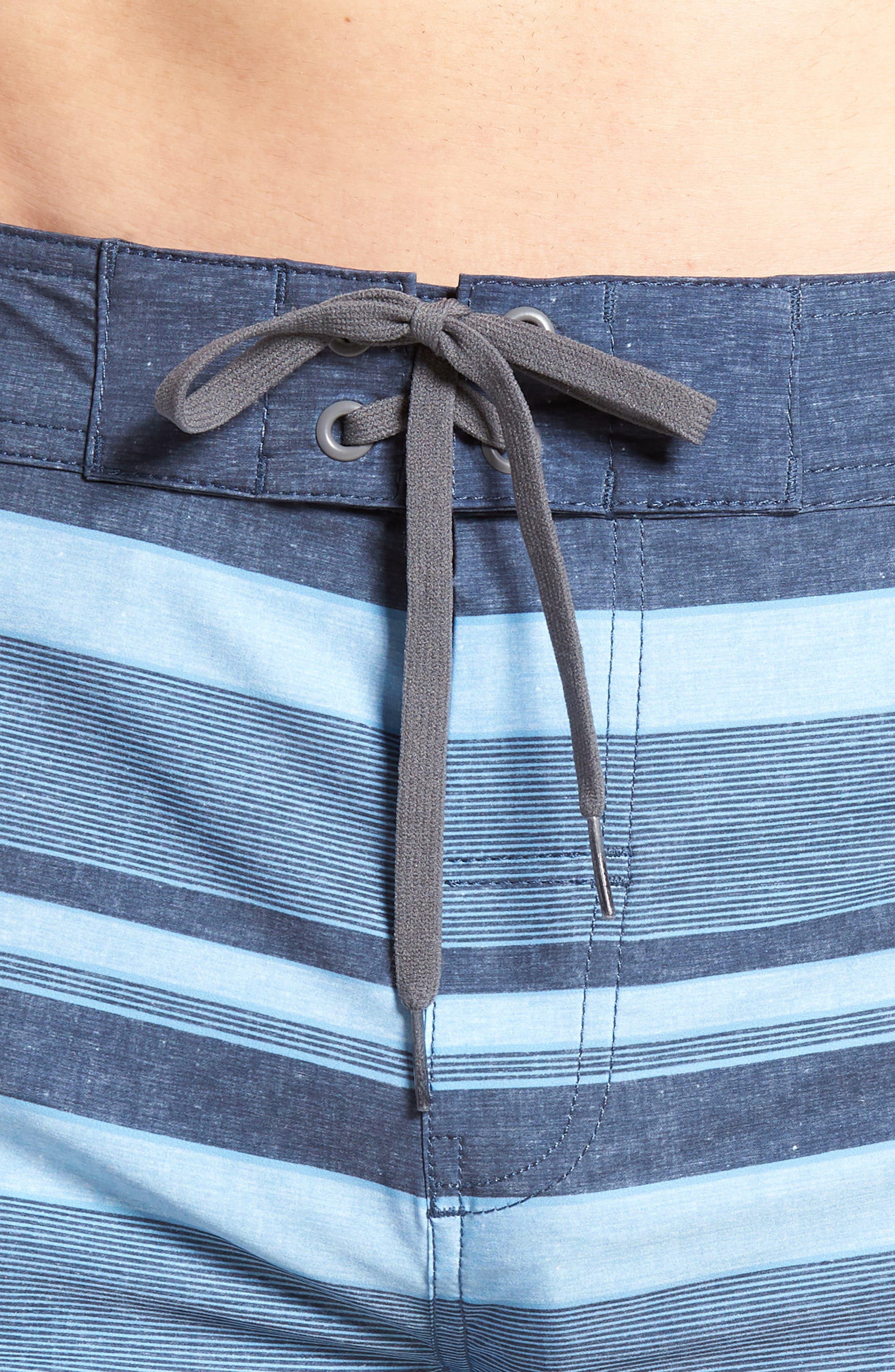 Colinas Regular Fit Board Shorts,                             Alternate thumbnail 4, color,                             Heather Bluestone