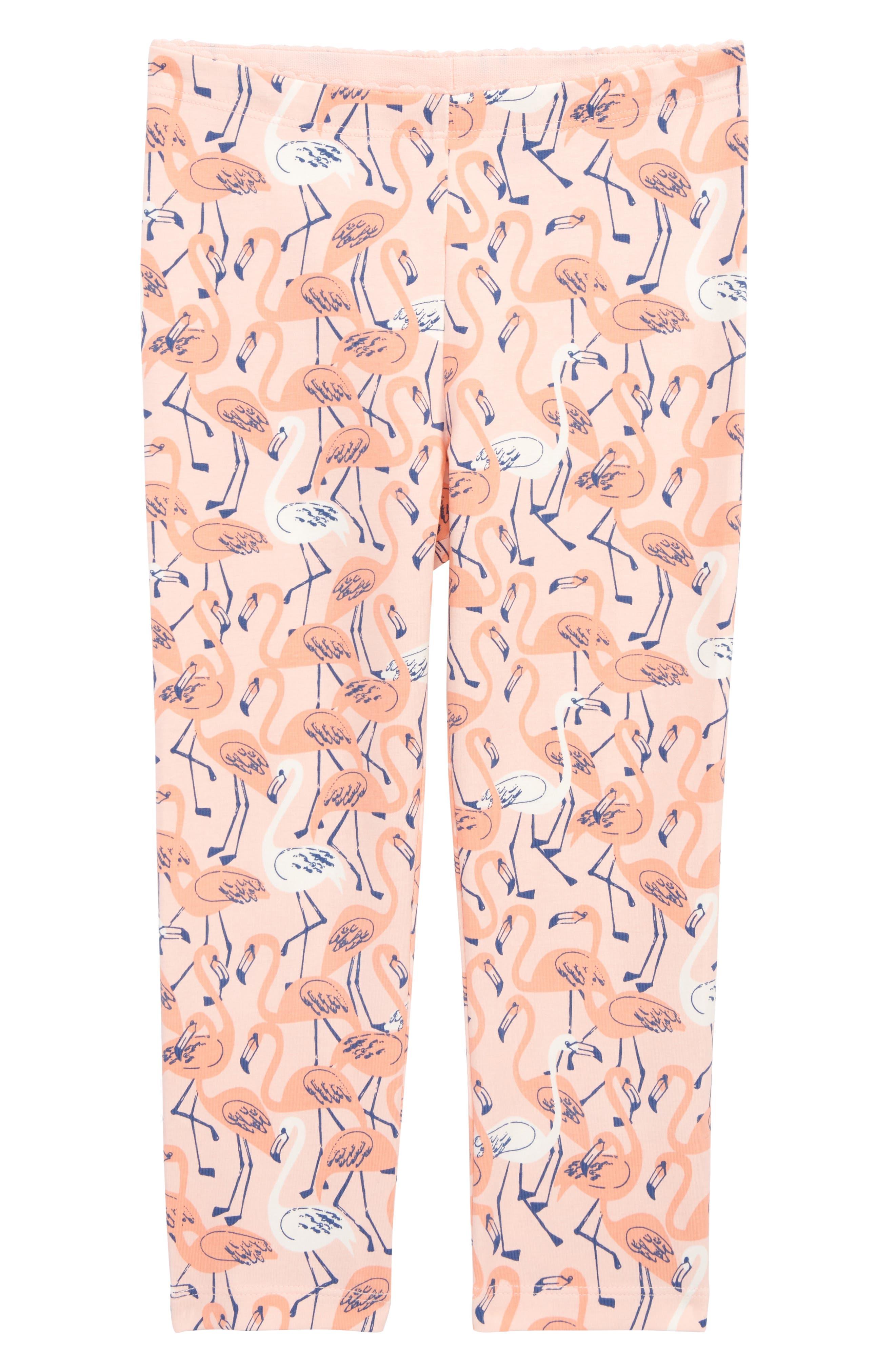 Flamingo Capri Leggings,                             Main thumbnail 1, color,                             Flamingo Garden