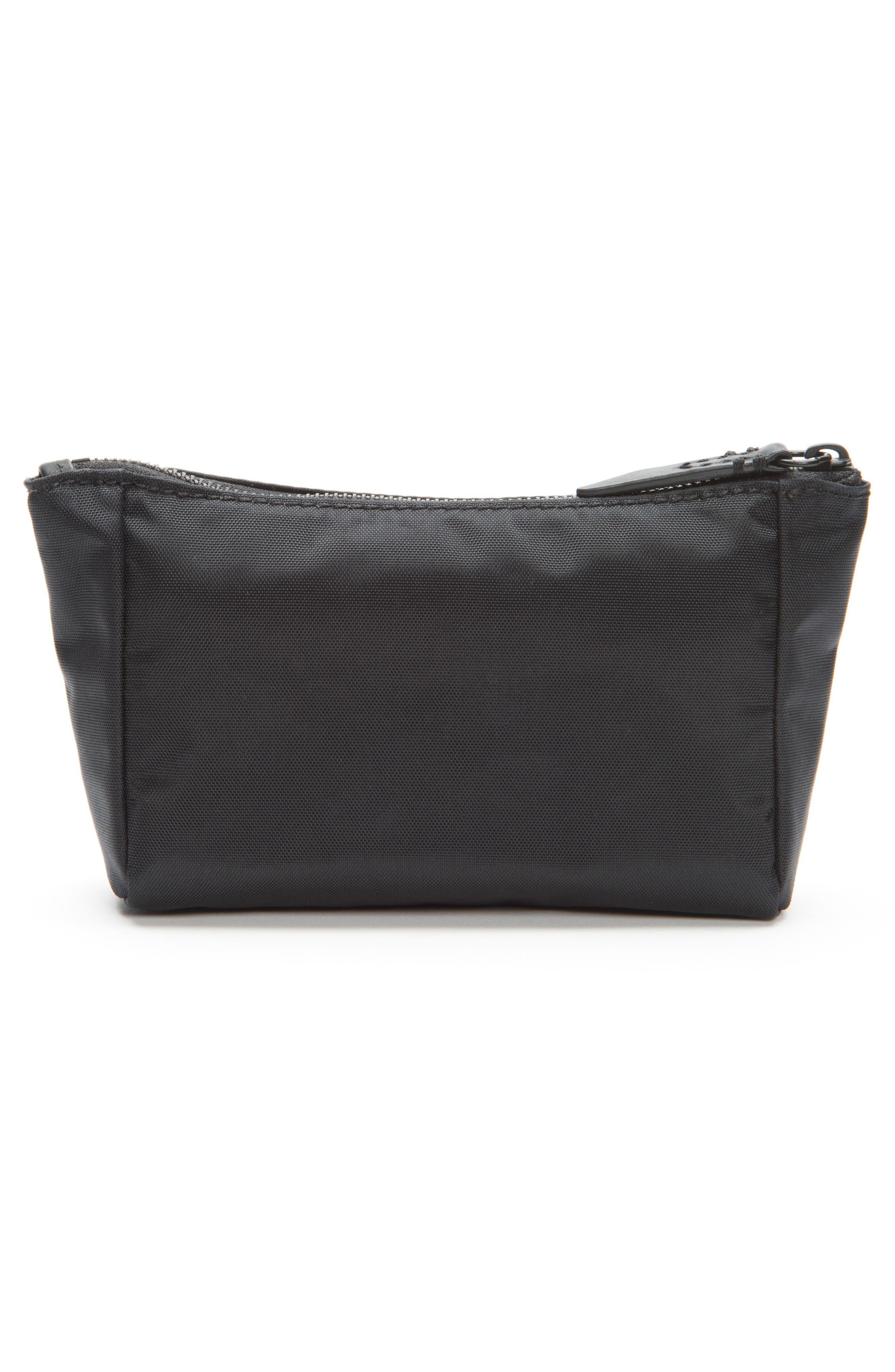 Ivy Nylon Cosmetics Bag,                             Alternate thumbnail 5, color,                             Matte Black