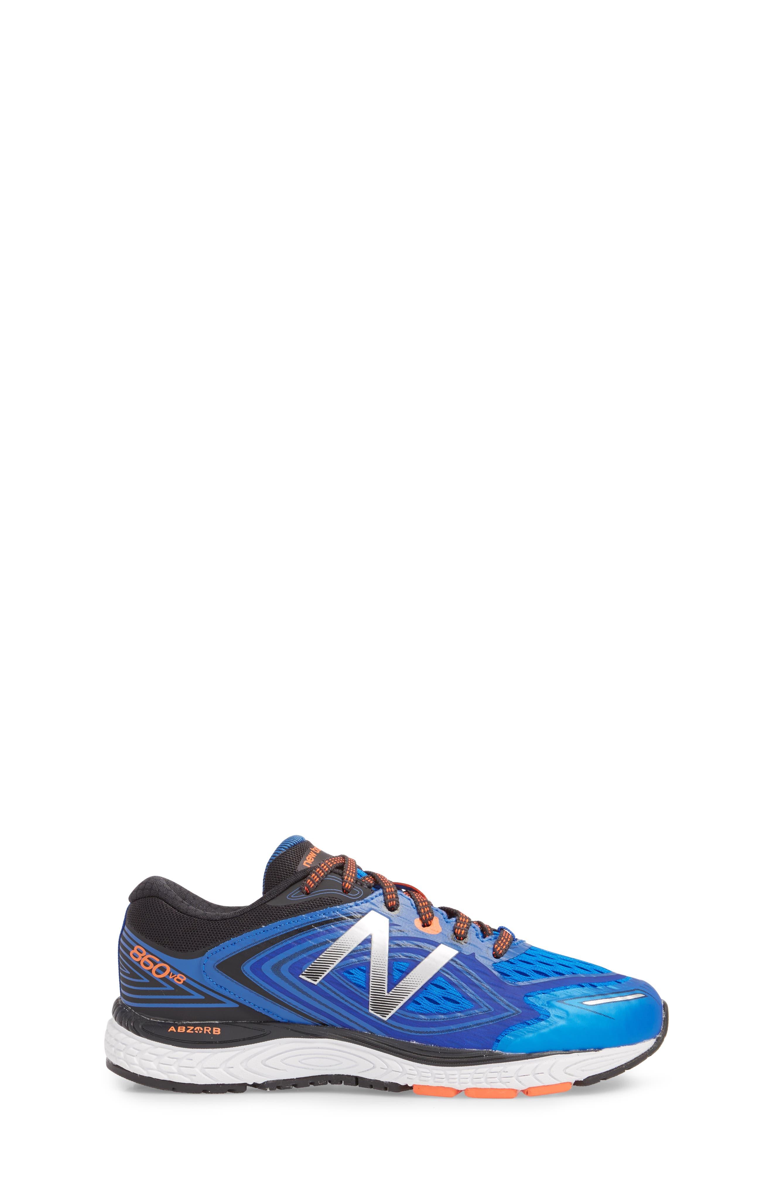 860v8 Sneaker,                             Alternate thumbnail 3, color,                             Navy/ Grey