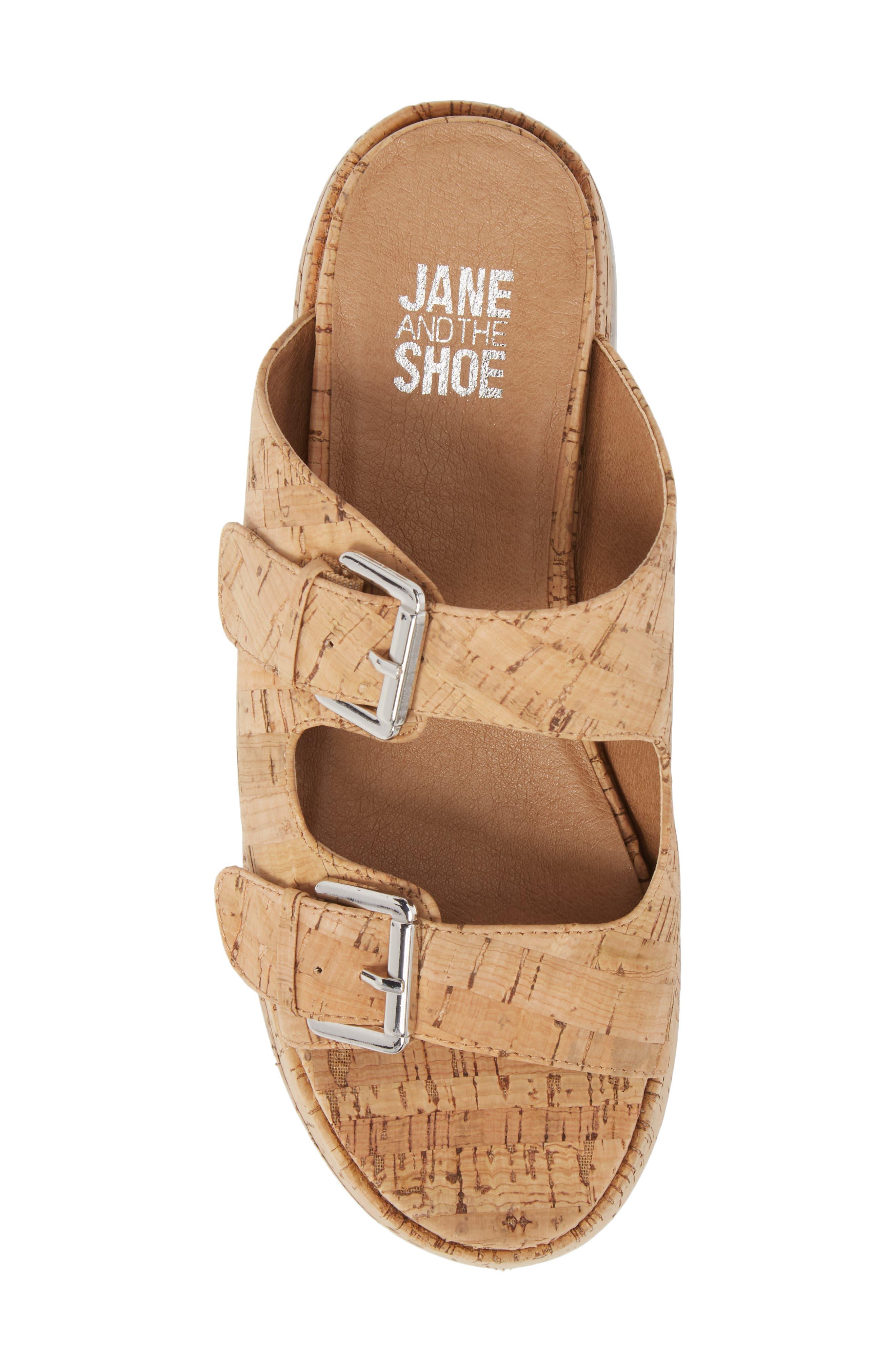 Jordan Two-Buckle Slide Sandal,                             Alternate thumbnail 5, color,                             Cork