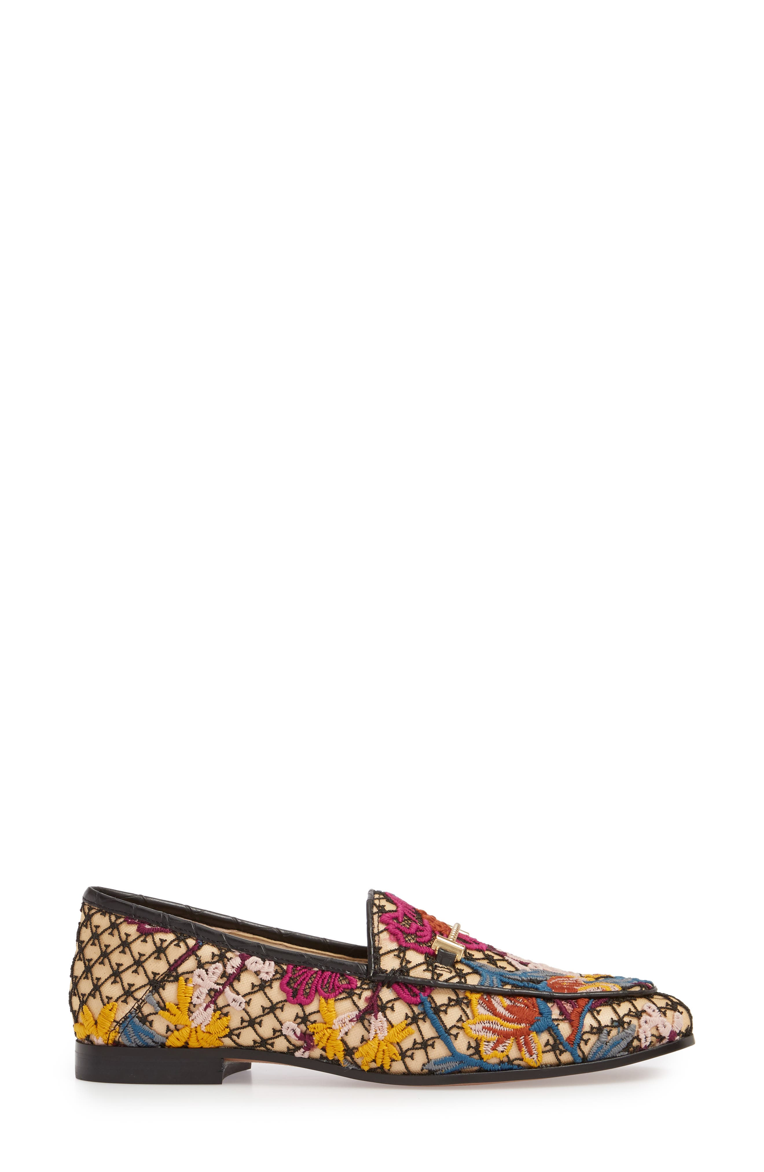 Lior Loafer,                             Alternate thumbnail 3, color,                             Bright Multi Floral Lace