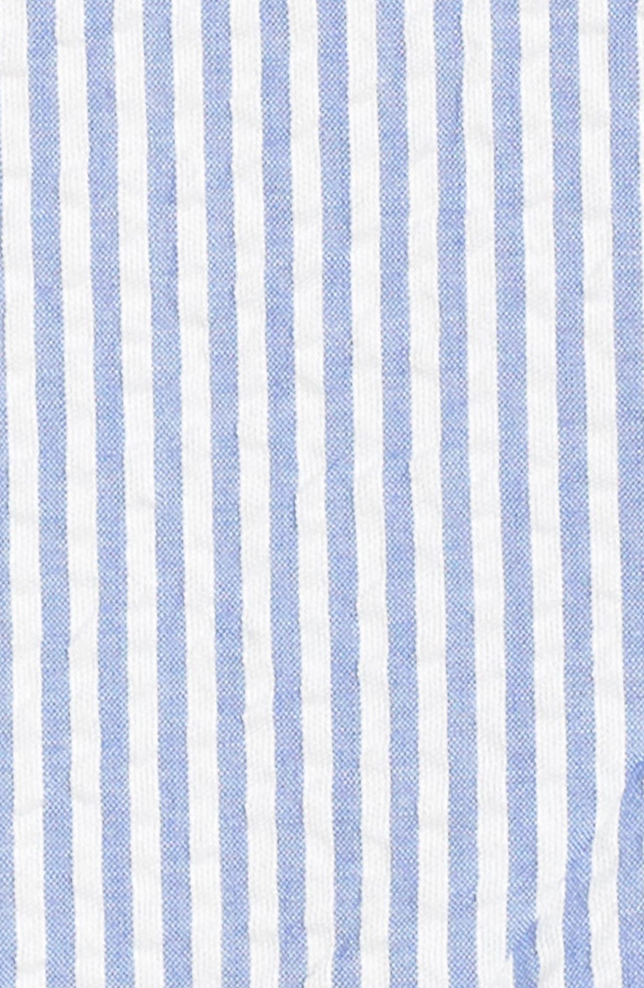 J.Crew Spaghetti Strap Ruffle Dress,                             Alternate thumbnail 5, color,                             Blue White