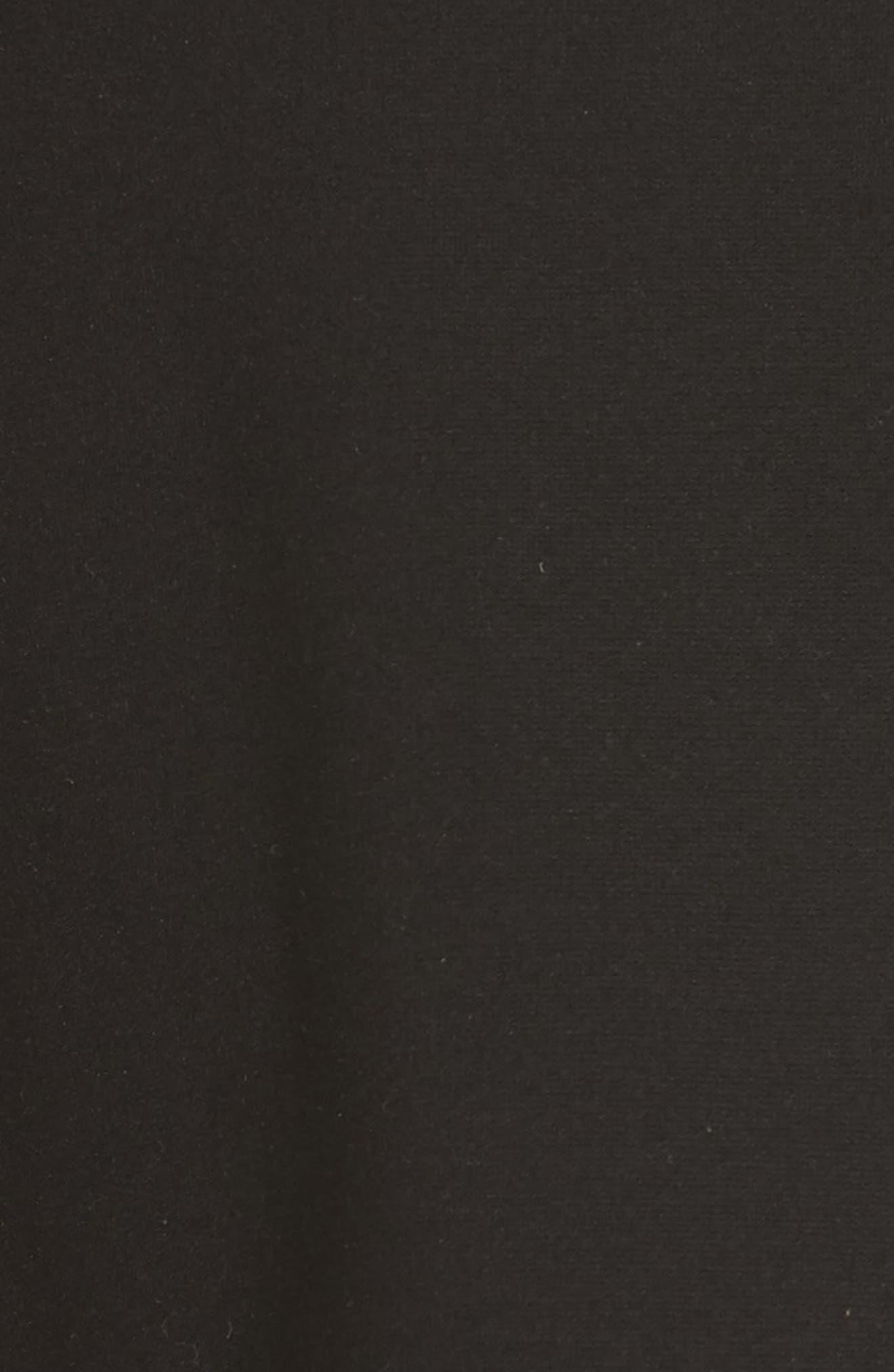 colorblock ponte a-line dress,                             Alternate thumbnail 5, color,                             Black