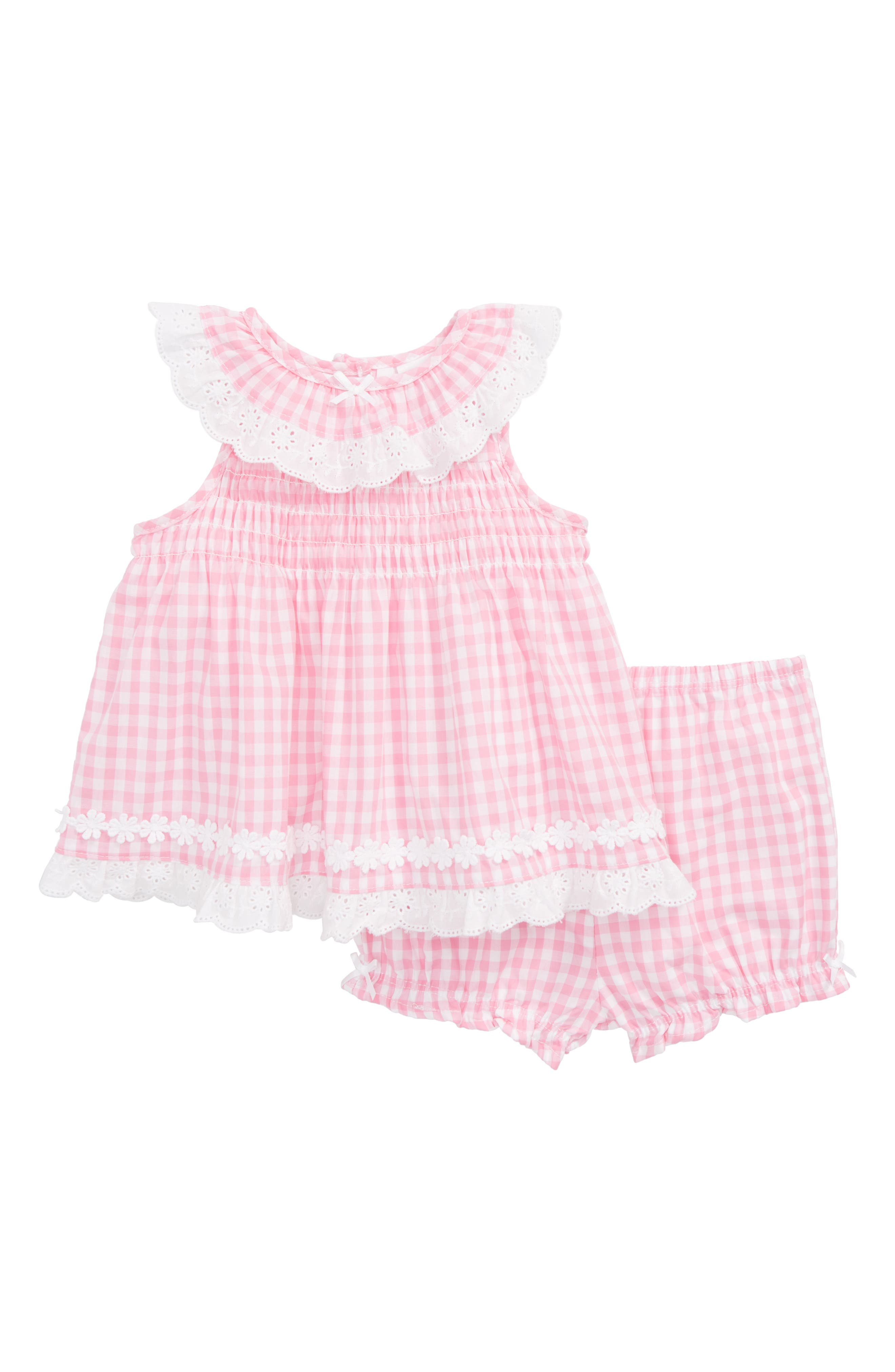 Gingham Gingham Dress,                             Main thumbnail 1, color,                             Pink