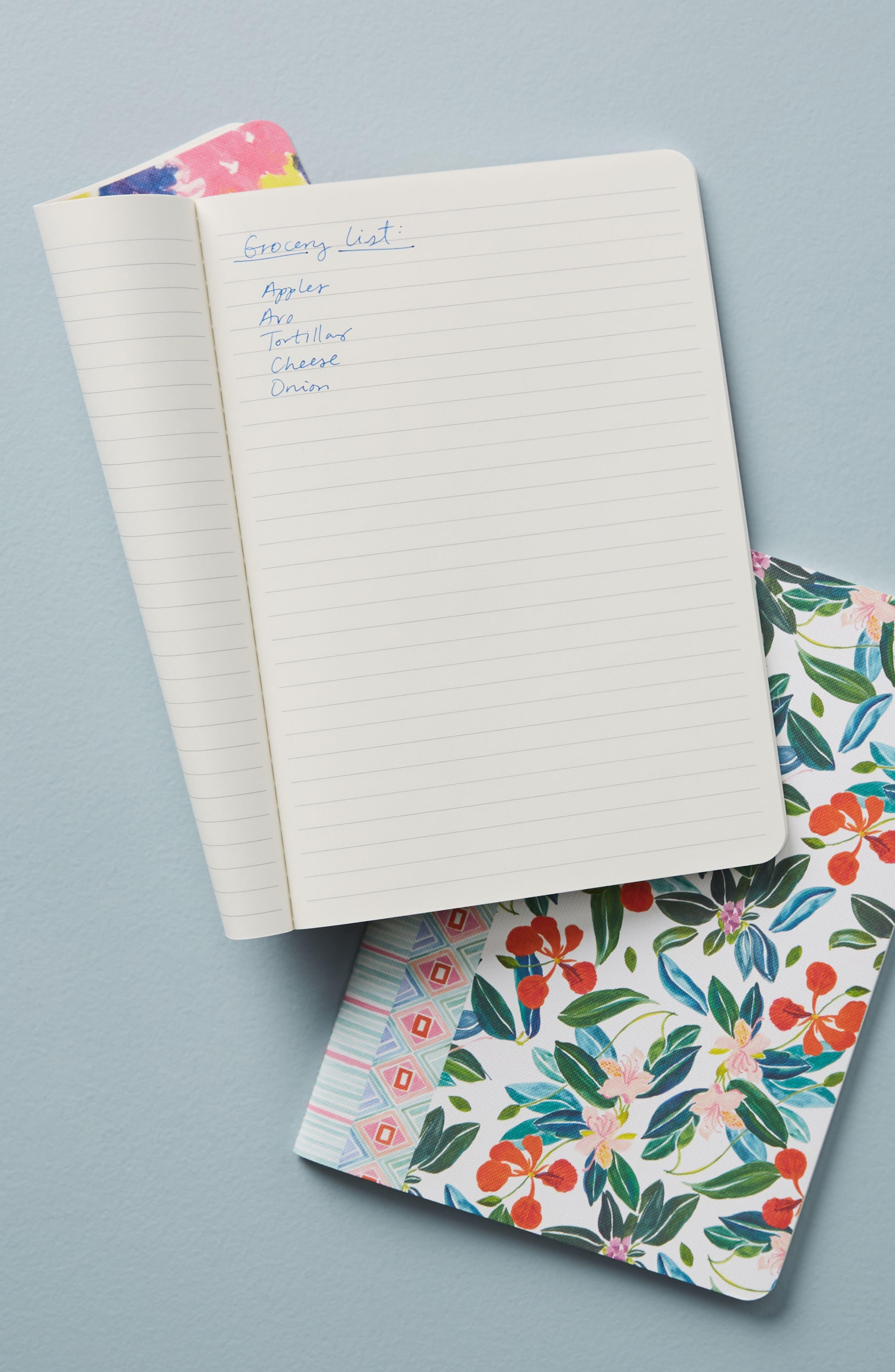 Sisters Gulassa Set of 3 Notebooks,                             Alternate thumbnail 2, color,                             Green