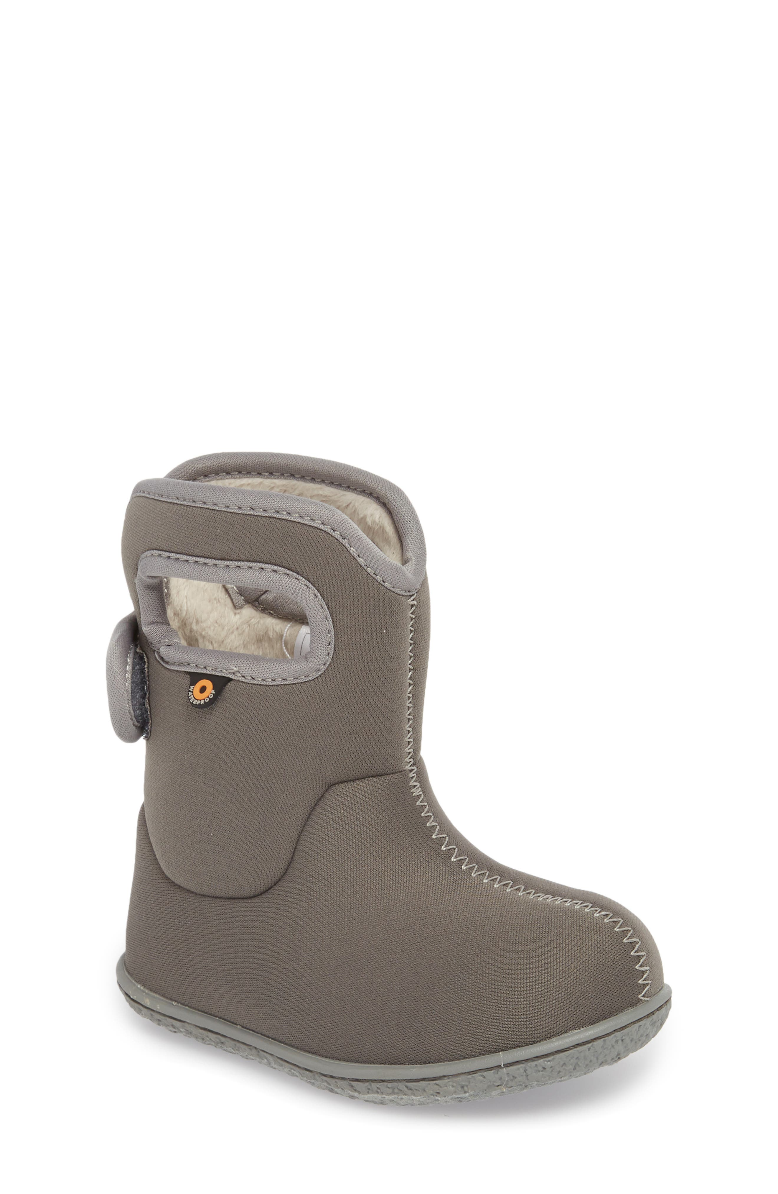 Classic Solid Insulated Waterproof Rain Boot,                             Main thumbnail 1, color,                             Light Gray Multi