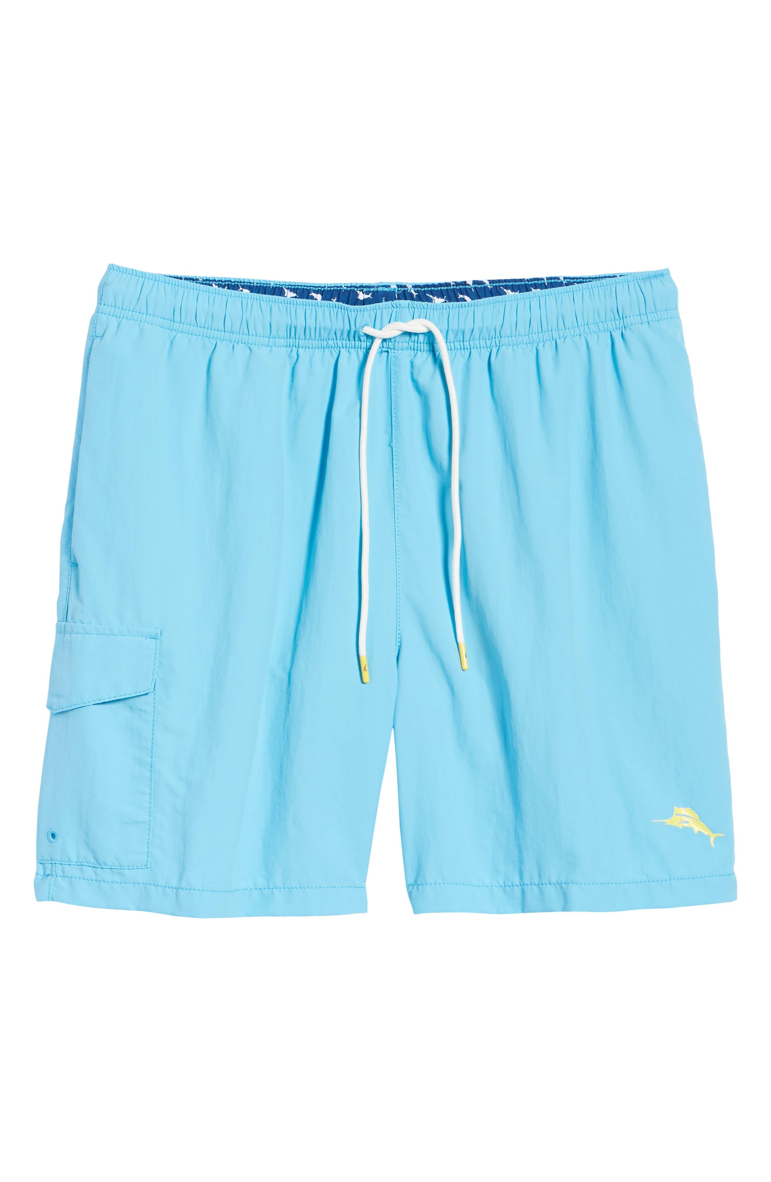 Naples Coast Swim Trunks,                             Alternate thumbnail 6, color,                             Breeze Blue