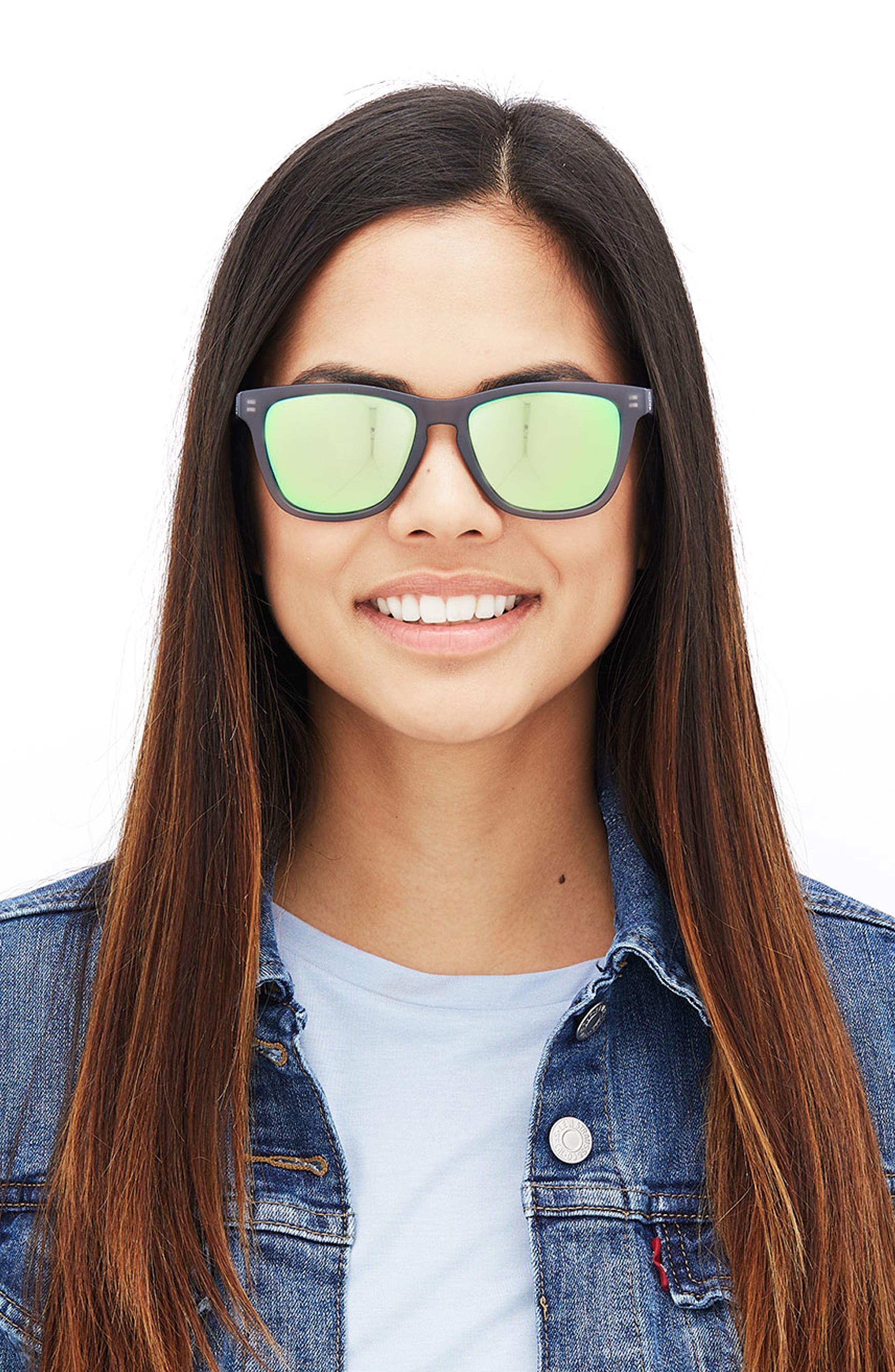 Headland 53m Polarized Sunglasses,                             Alternate thumbnail 2, color,                             Black / Lime