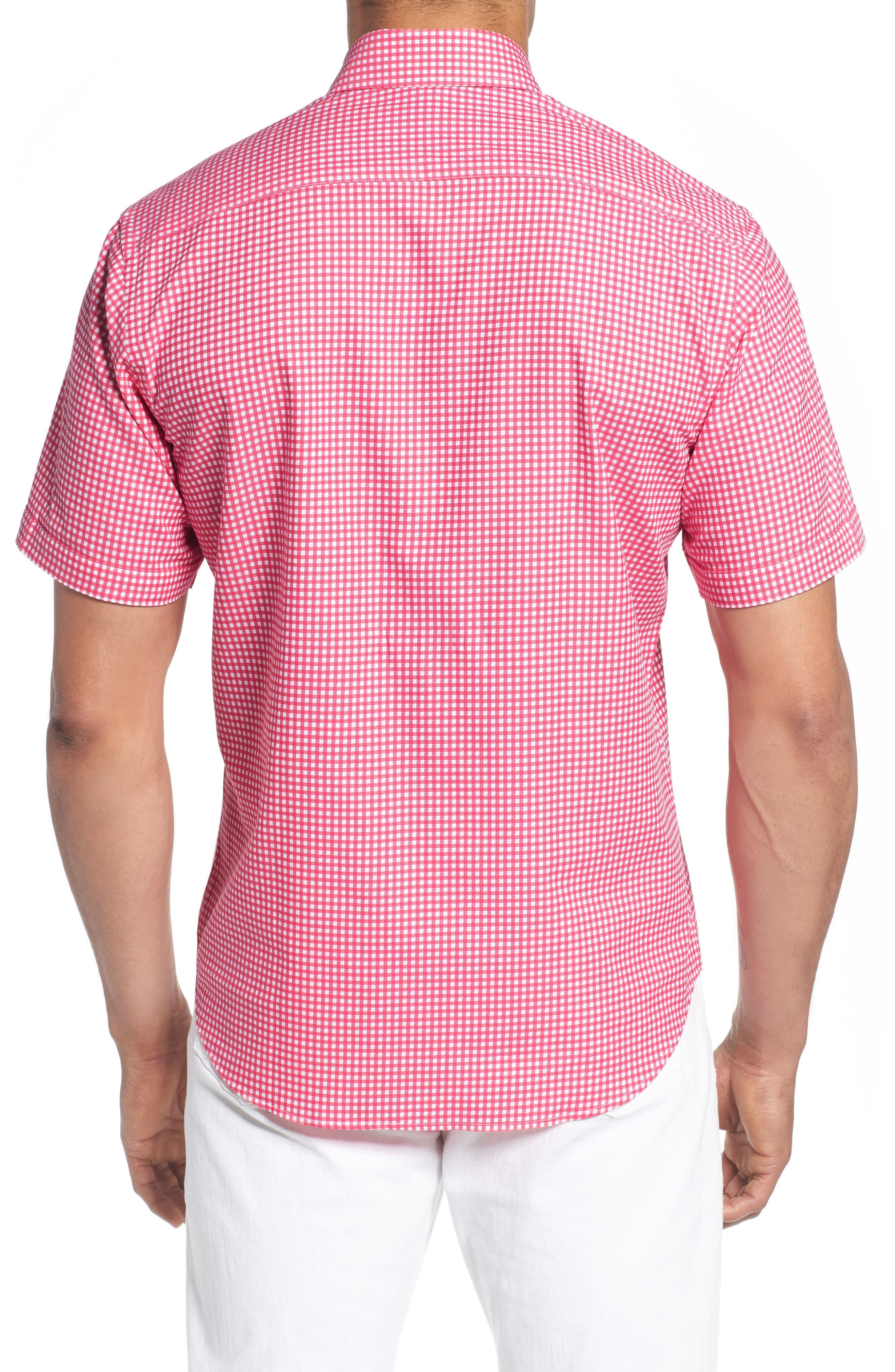 Aden Regular Fit Sport Shirt,                             Alternate thumbnail 3, color,                             Coral