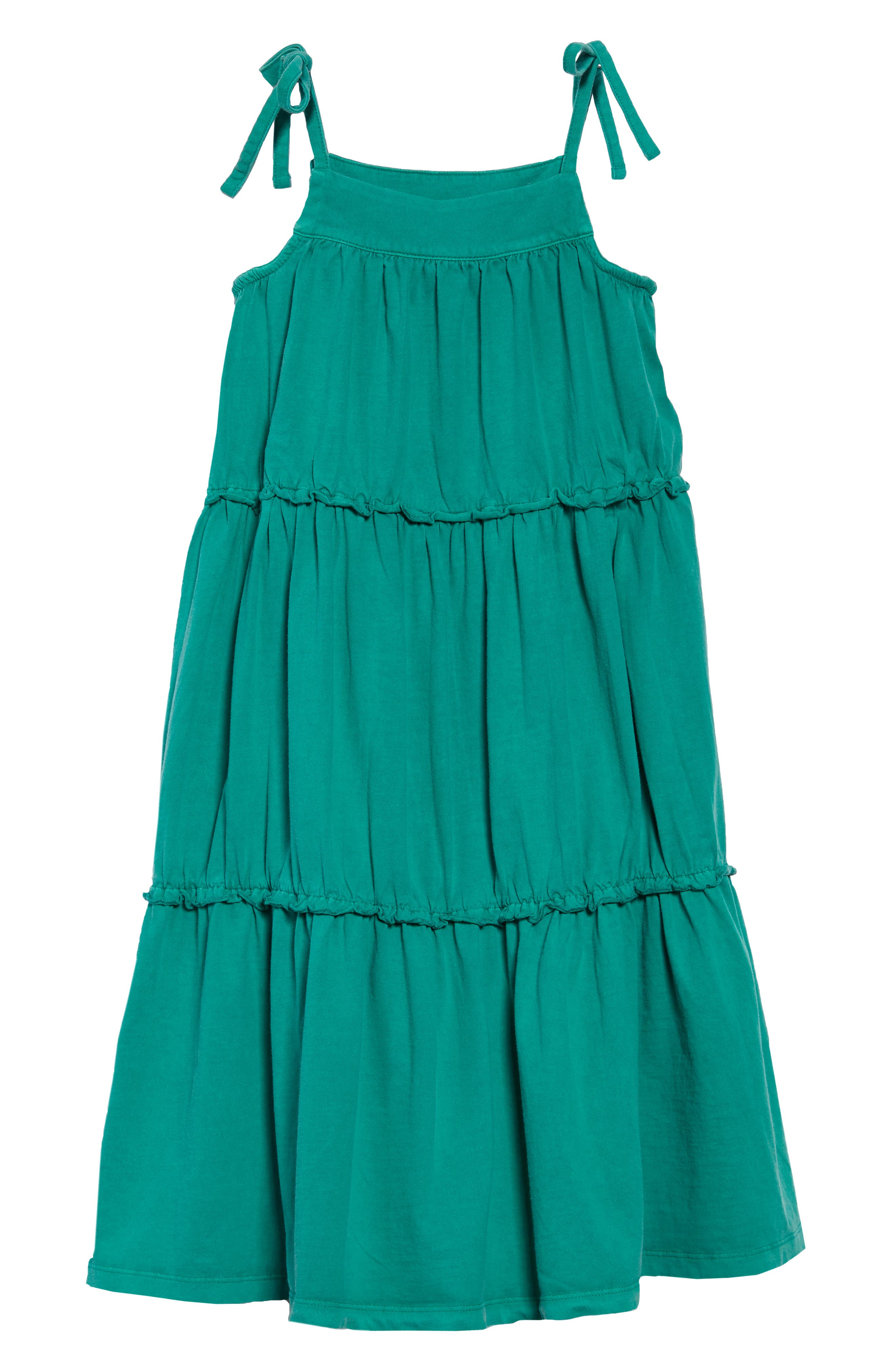 Tiered Sundress,                             Main thumbnail 1, color,                             Green Pop