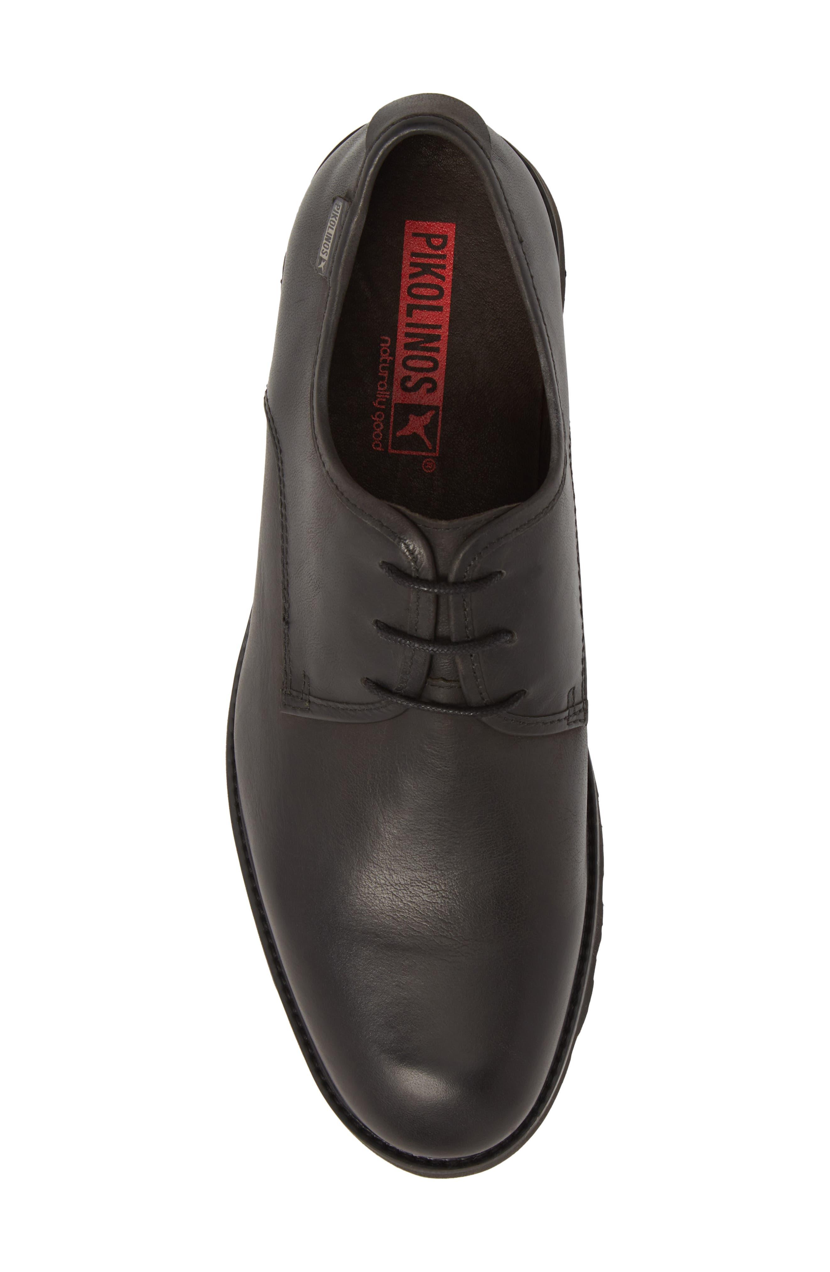 'Glasgow' Derby,                             Alternate thumbnail 6, color,                             Black Leather