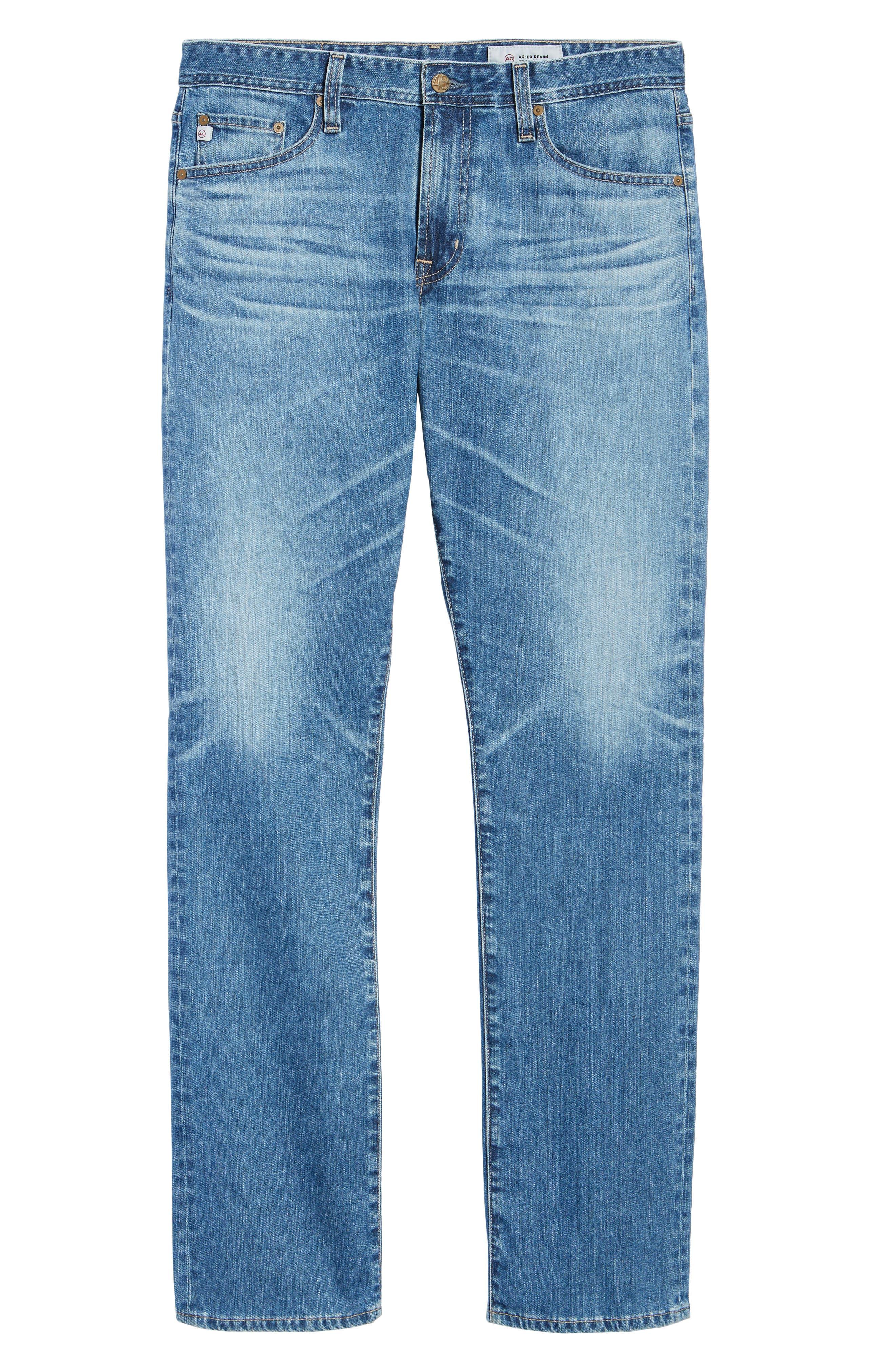 Everett Slim Straight Leg Jeans,                             Alternate thumbnail 6, color,                             15 Years Open Road
