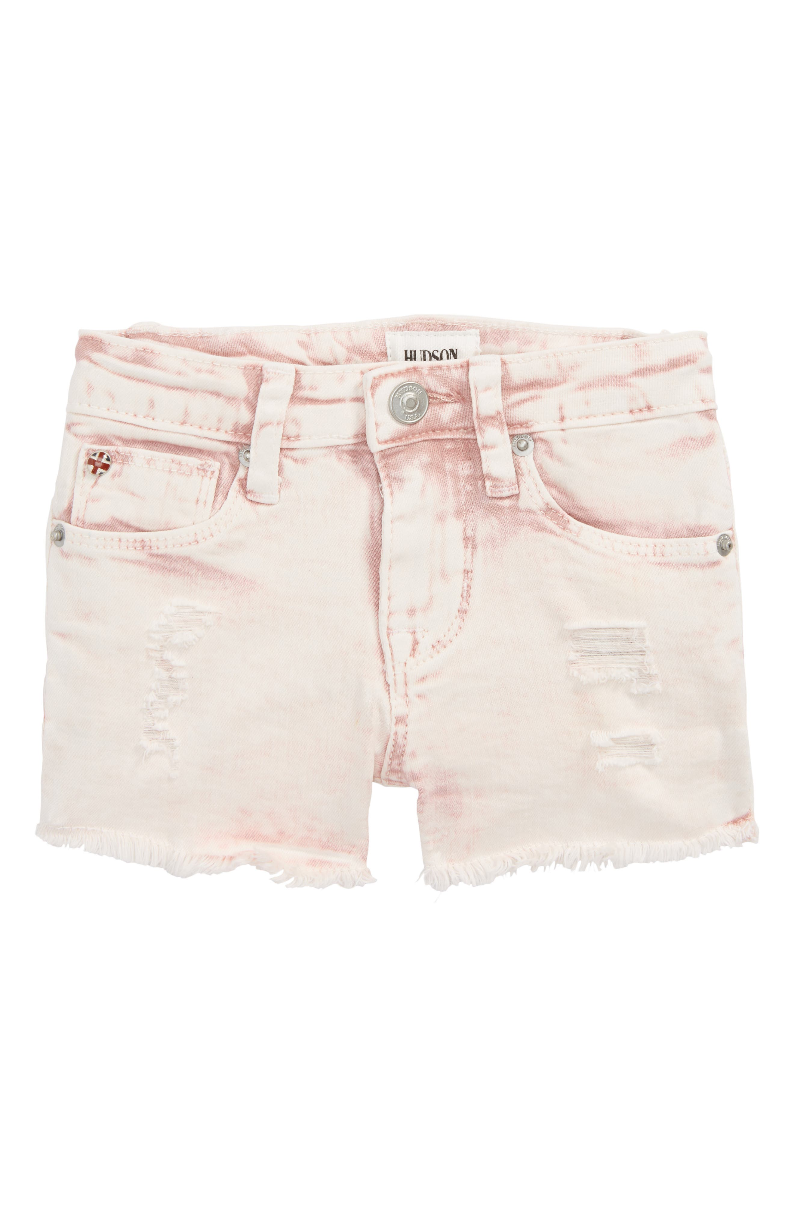 Hudson Kids Frayed Acid Wash Shorts (Baby Girls)