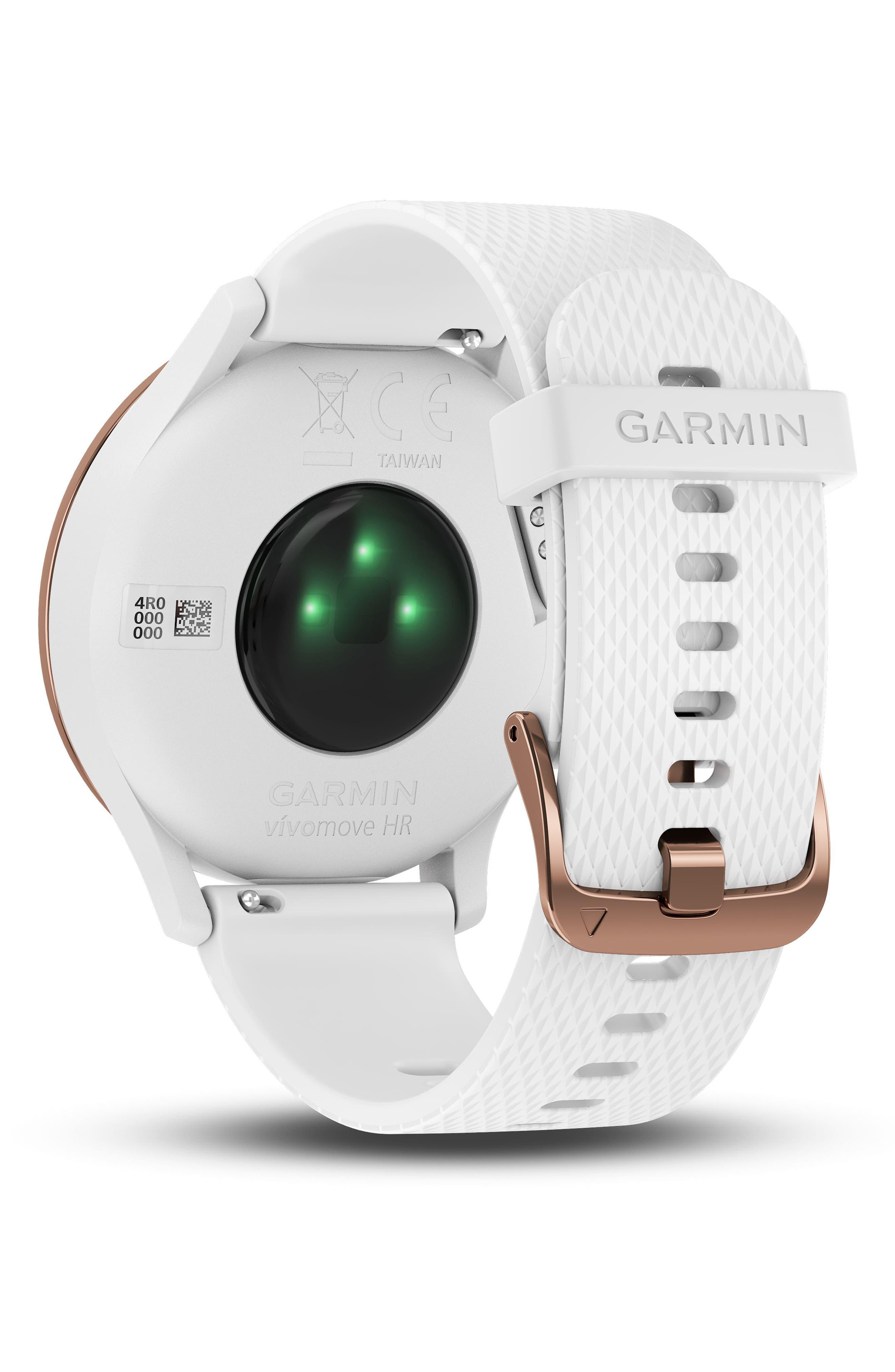 Vivomove HR Large Sport Hybrid Smart Watch,                             Alternate thumbnail 7, color,                             White/ Rose Gold/ Rose Gold