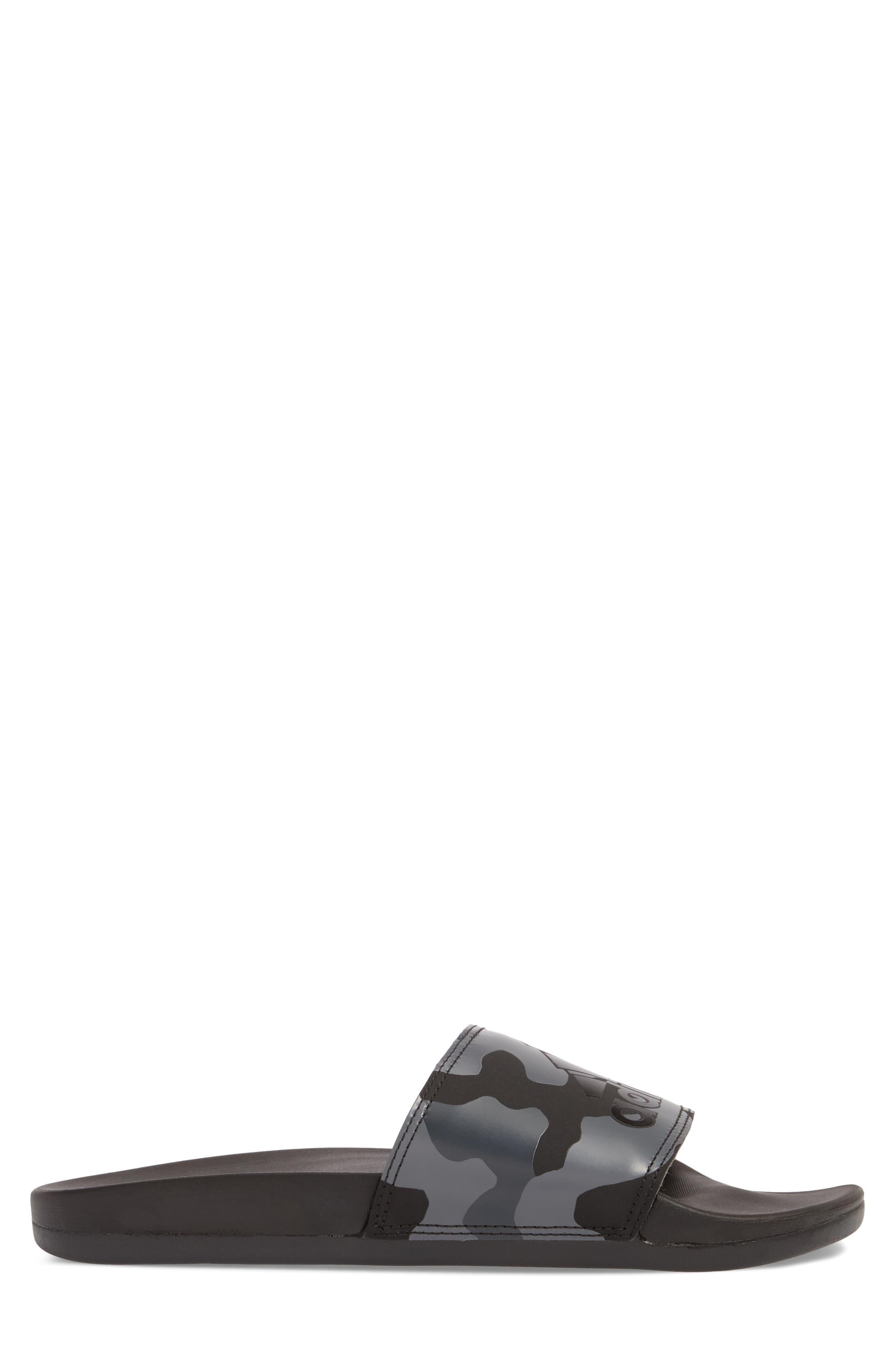 Cloudfoam Plus Slide Sandal,                             Alternate thumbnail 3, color,                             Core Black/ White/ Carbon