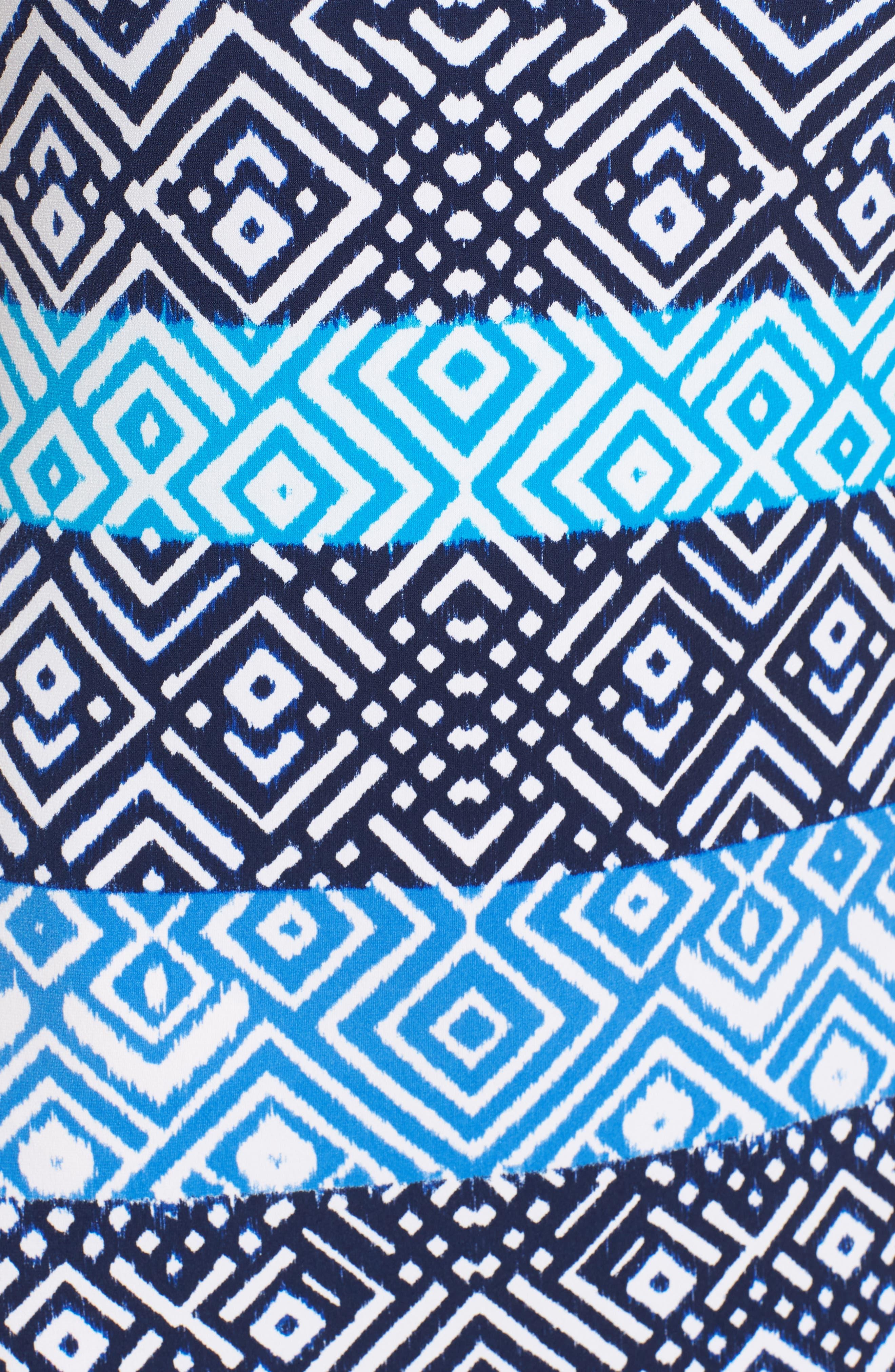 Mayan Maze Maxi Dress,                             Alternate thumbnail 6, color,                             Ocean Deep