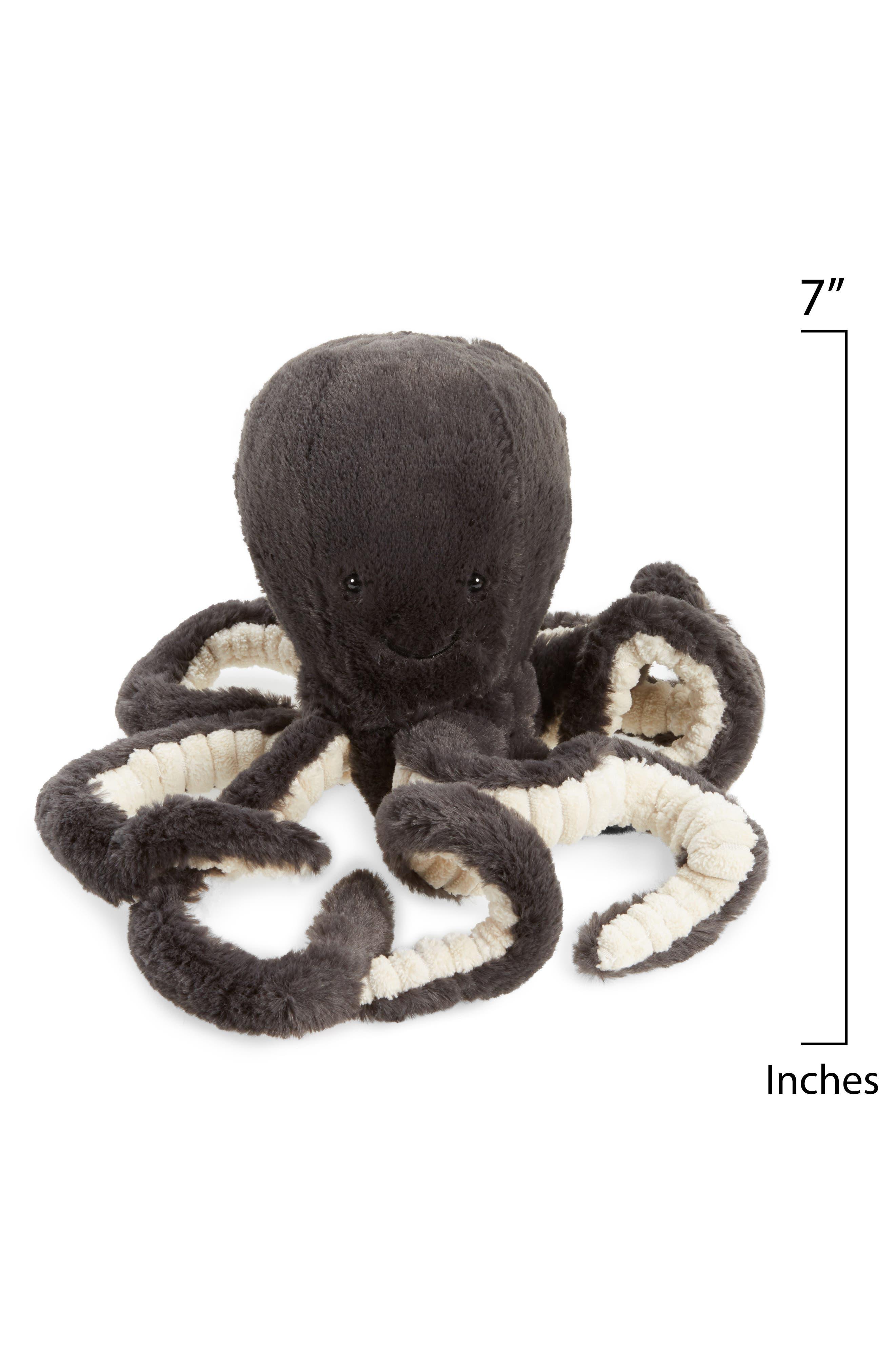 Small Inky Octopus Stuffed Animal,                             Alternate thumbnail 2, color,                             Black