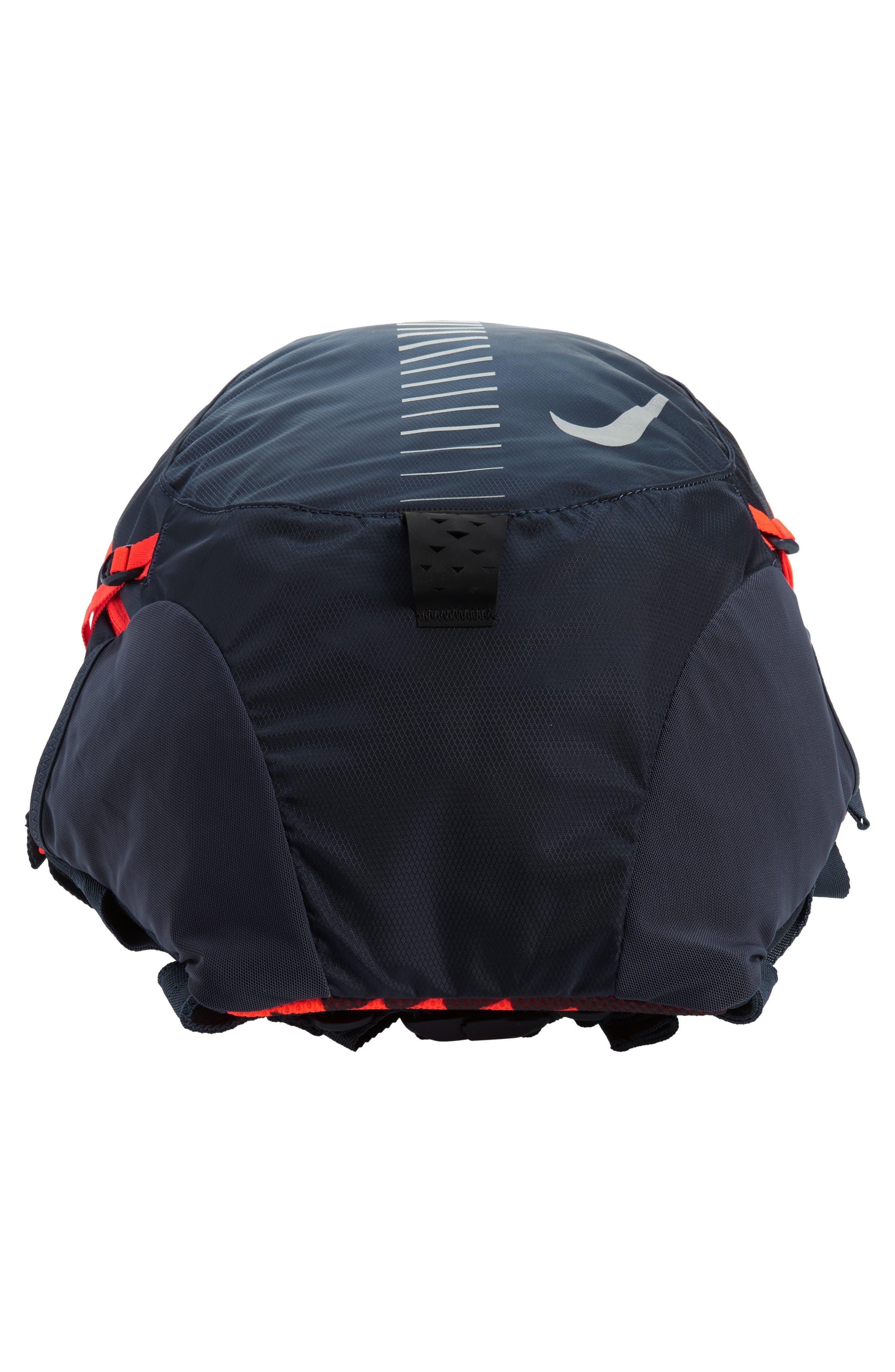 Run Commuter Backpack,                             Alternate thumbnail 6, color,                             Thunder Blue/ Total Crimson