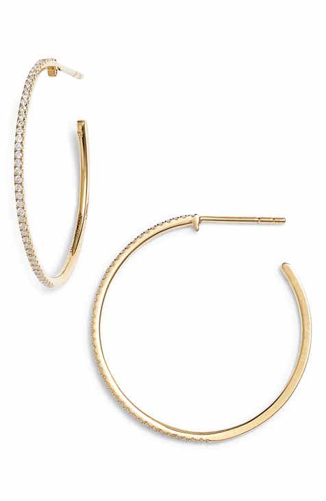 Bony Levy Medium Diamond Hoop Earrings Nordstrom Exclusive