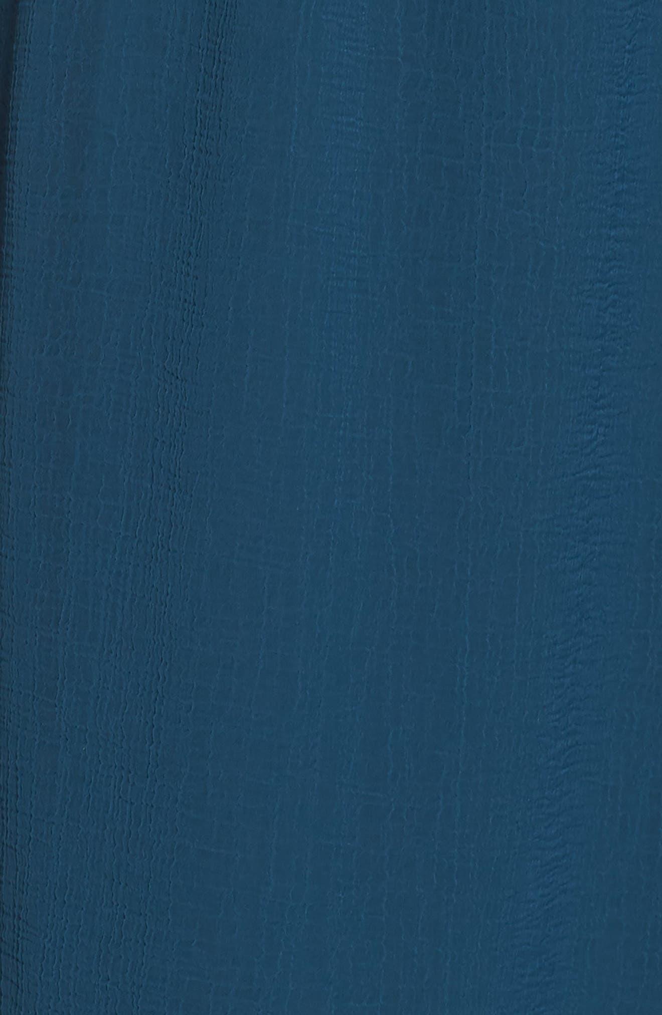 Bishop Sleeve Blouson Dress,                             Alternate thumbnail 6, color,                             Midnight Jungle