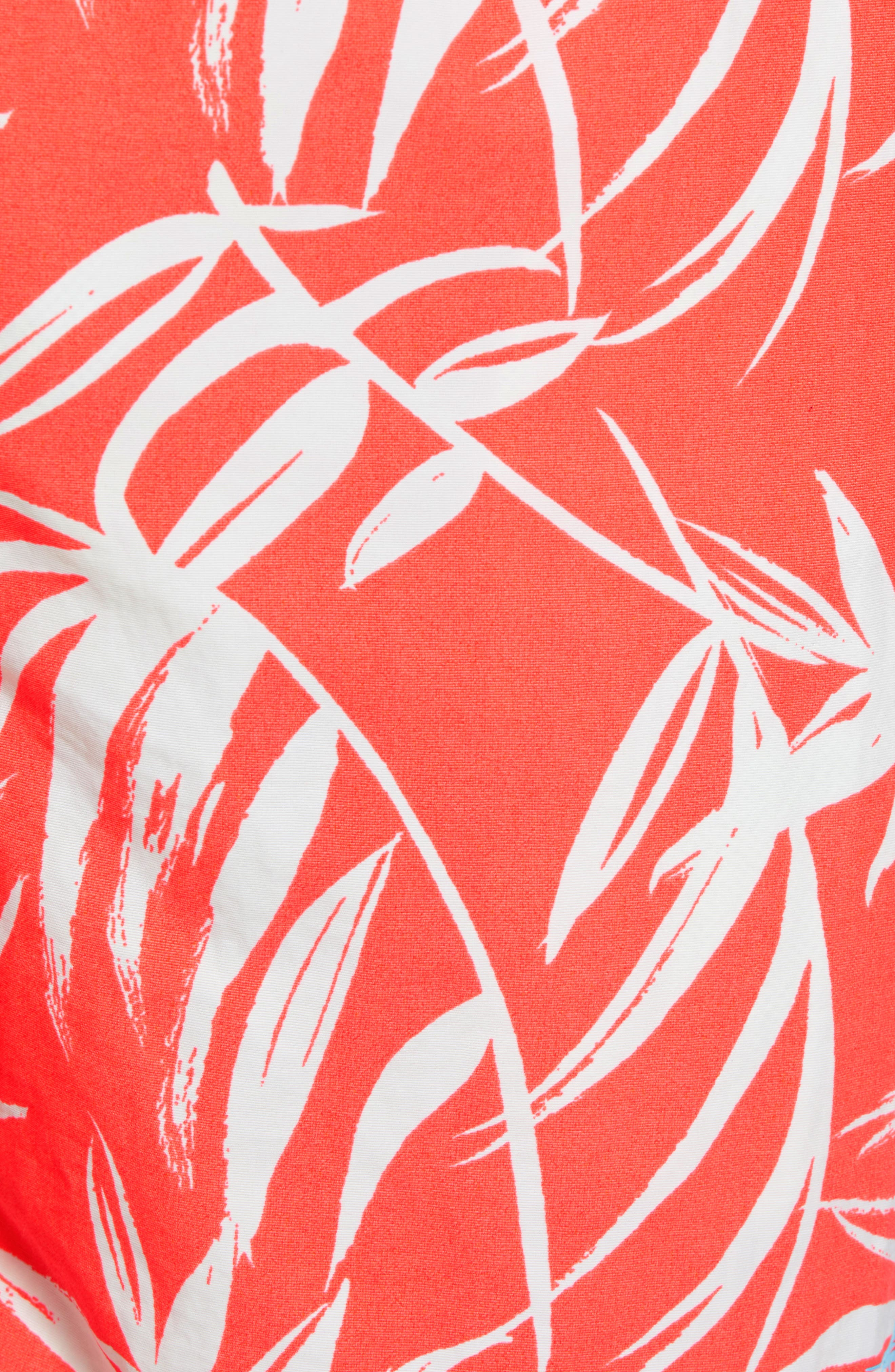 Naples Muy Caliente Swim Trunks,                             Alternate thumbnail 5, color,                             Electric Coral