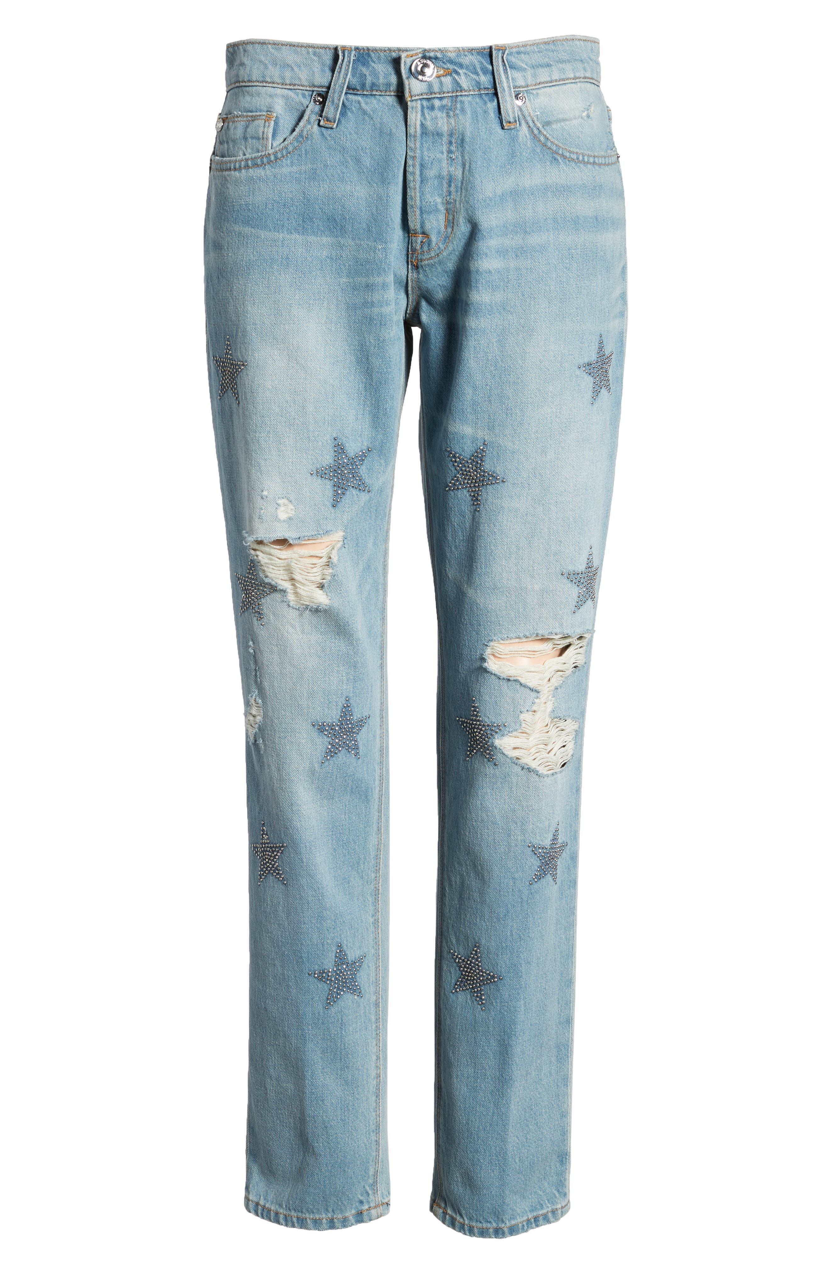 Riley Crop Relaxed Straight Leg Jeans,                             Alternate thumbnail 7, color,                             Amplify